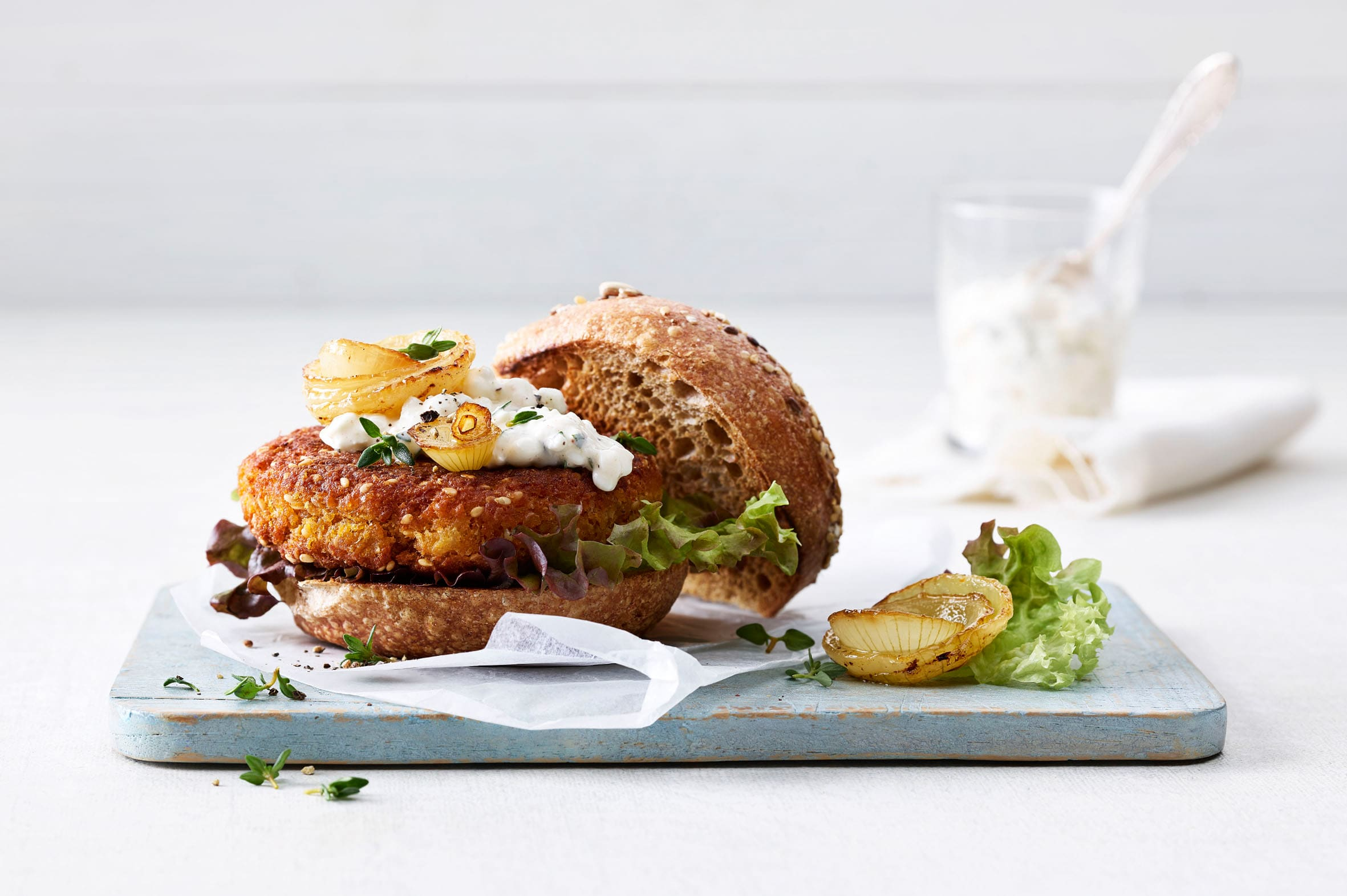 Burger pois chiches-courge (veggie burger)