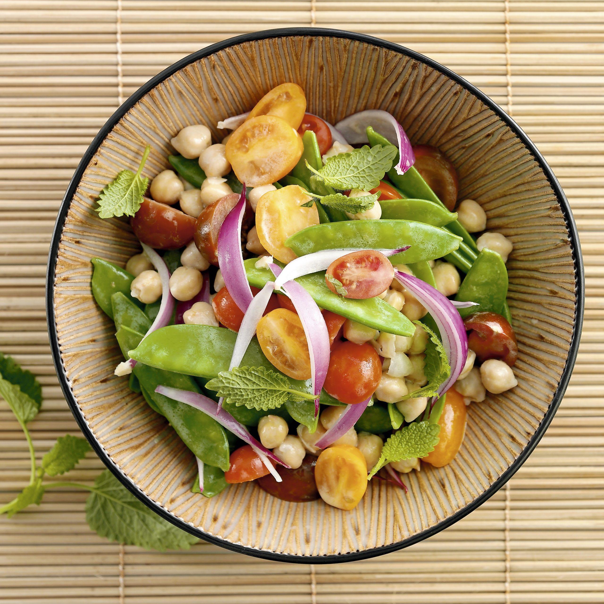 Salade aux deux pois