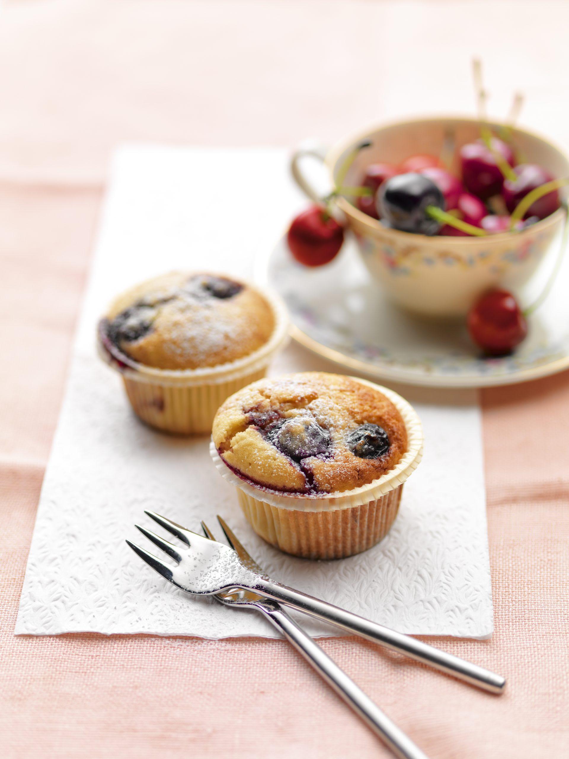 Muffins aux cerises et au yogourt