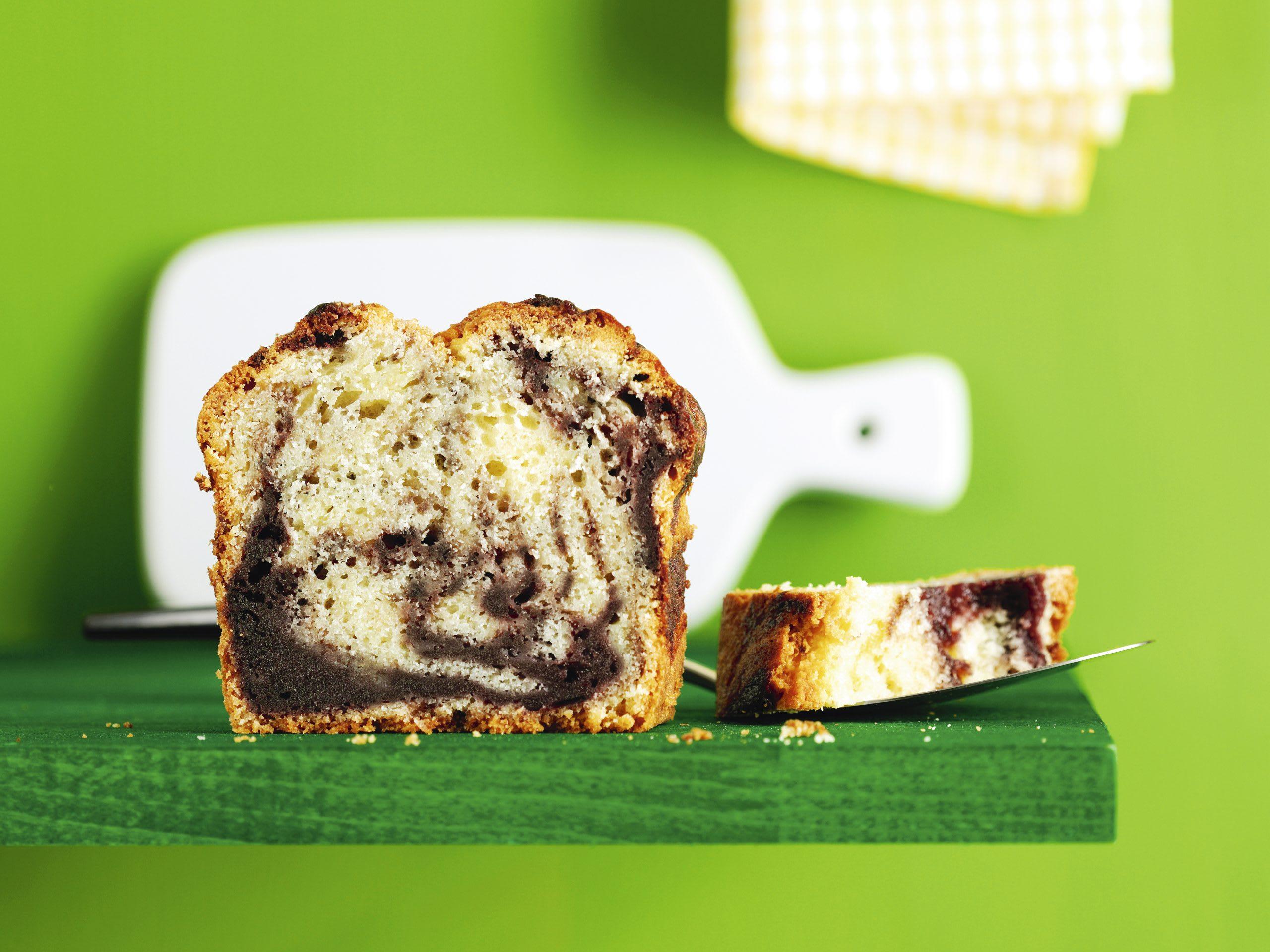 Cake marbré aux cerises