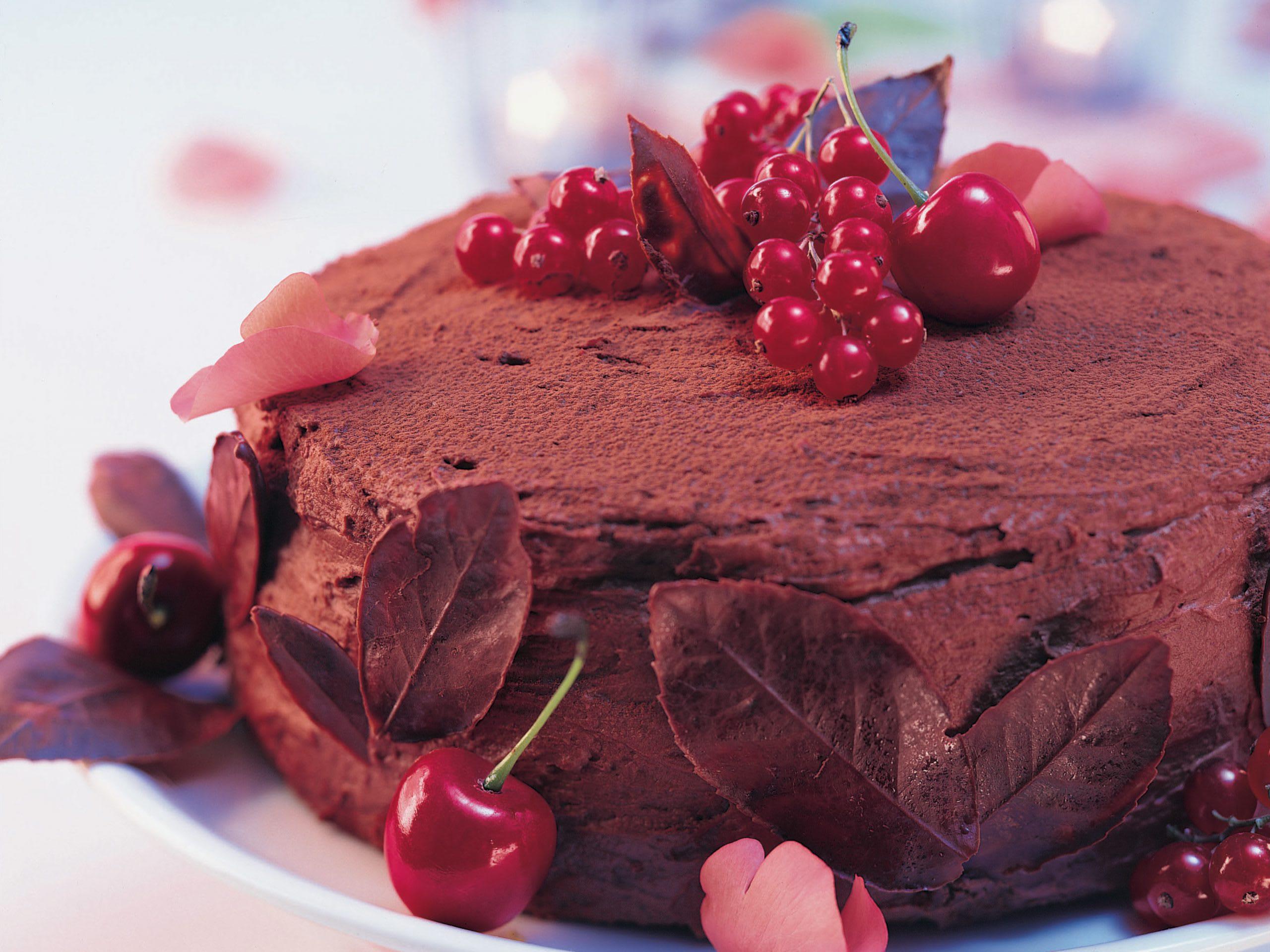 Kirschen-Schokoladen-Torte