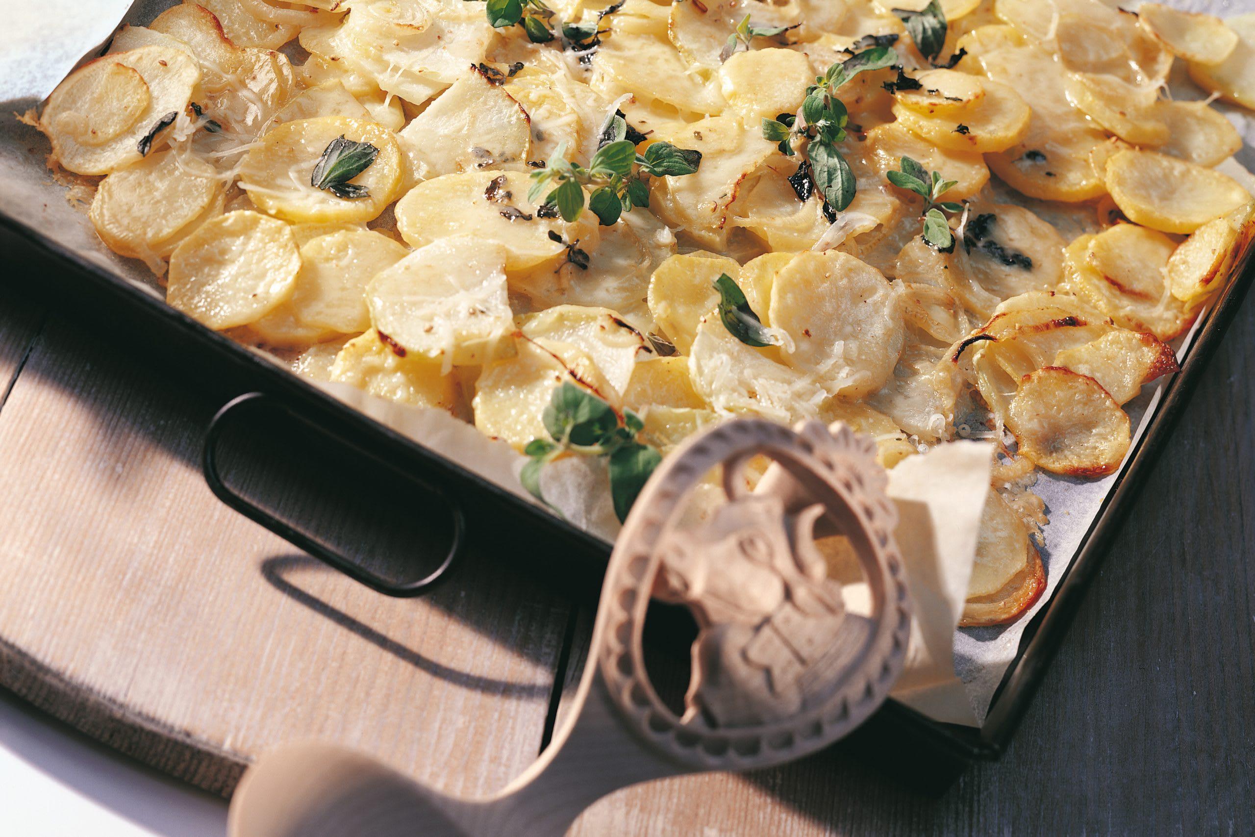 Gratin de pommes de terre au chou blanc