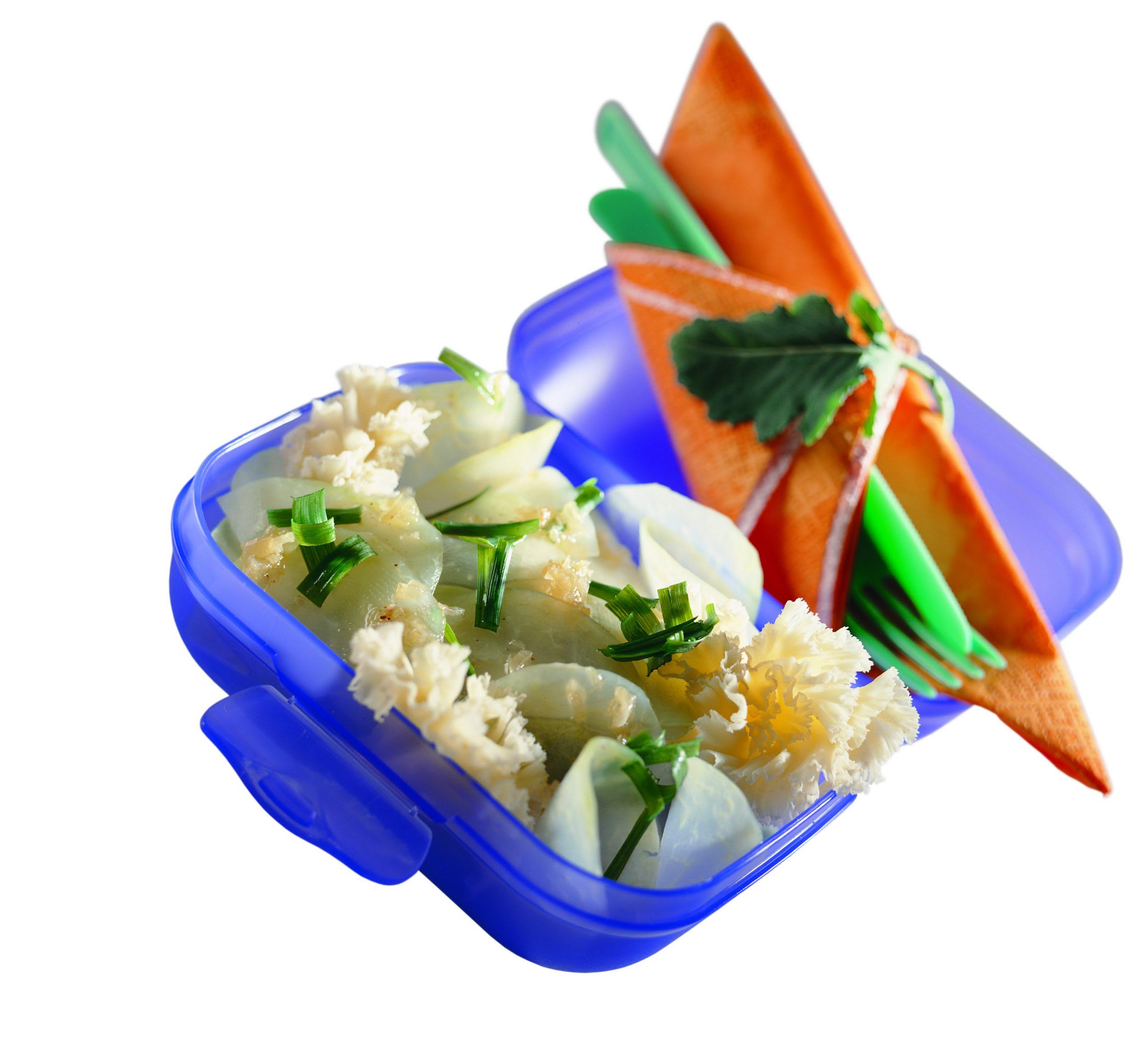 Salade de colrave à l'ail des ours et Tête de Moine