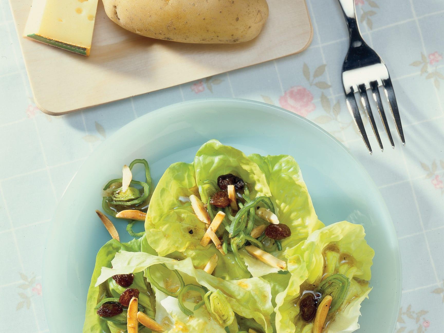 Salade pommée au poireau