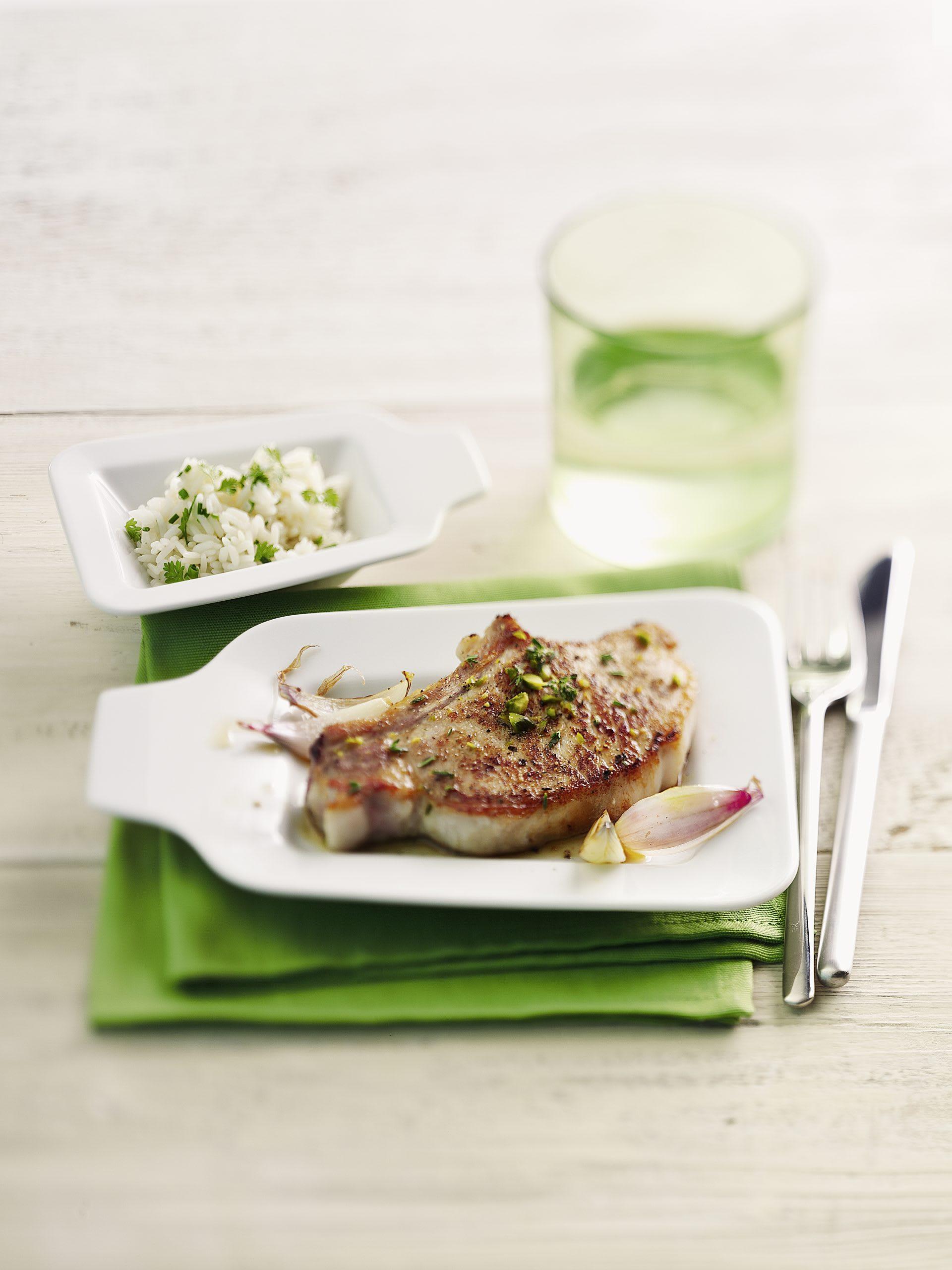 Koteletts mit Schalotten-Thymian-Sauce