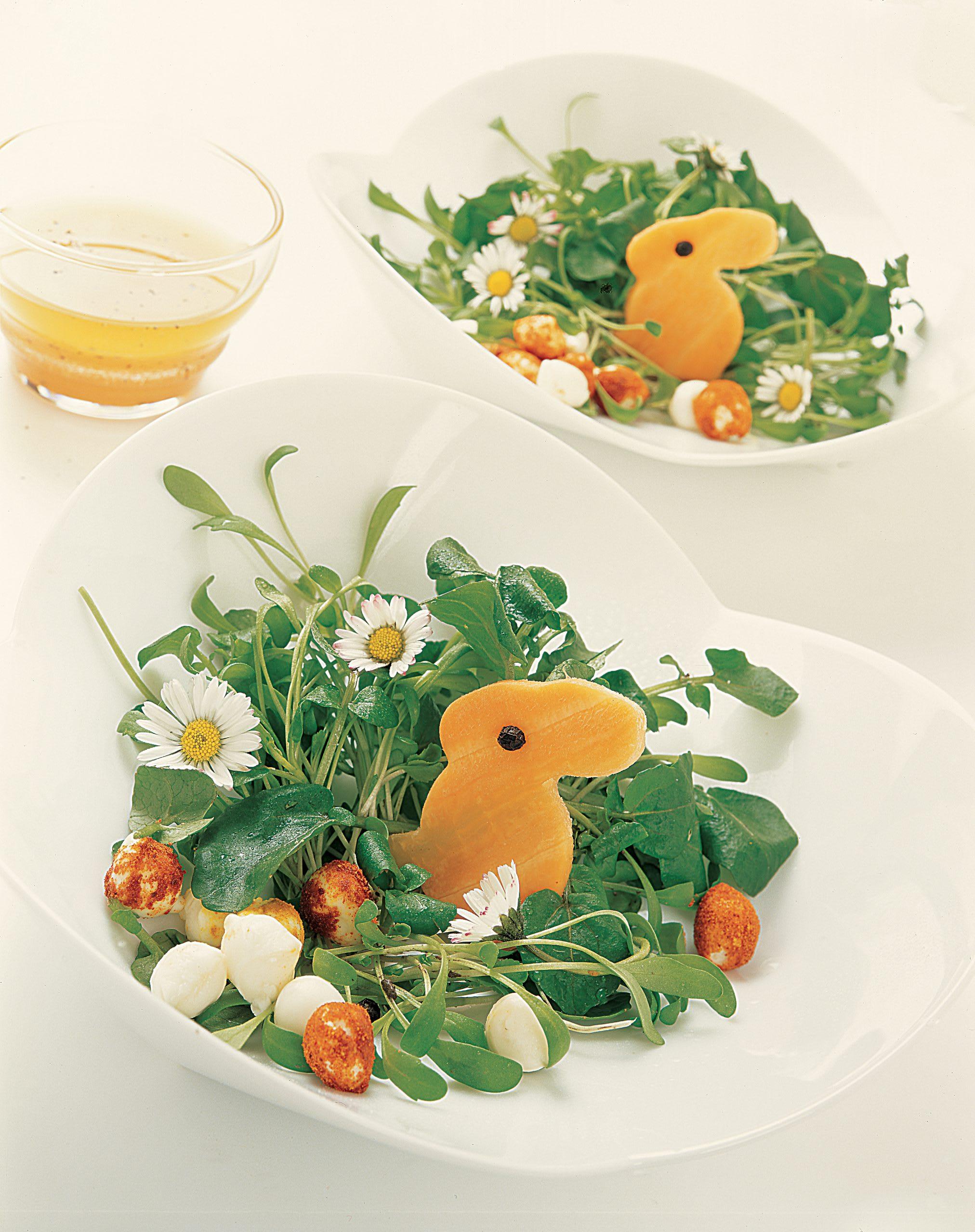 Salade de cresson et son lapin en carotte