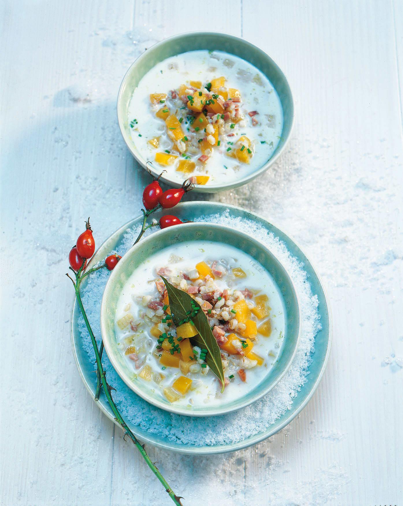 Kürbis-Gersten-Suppe