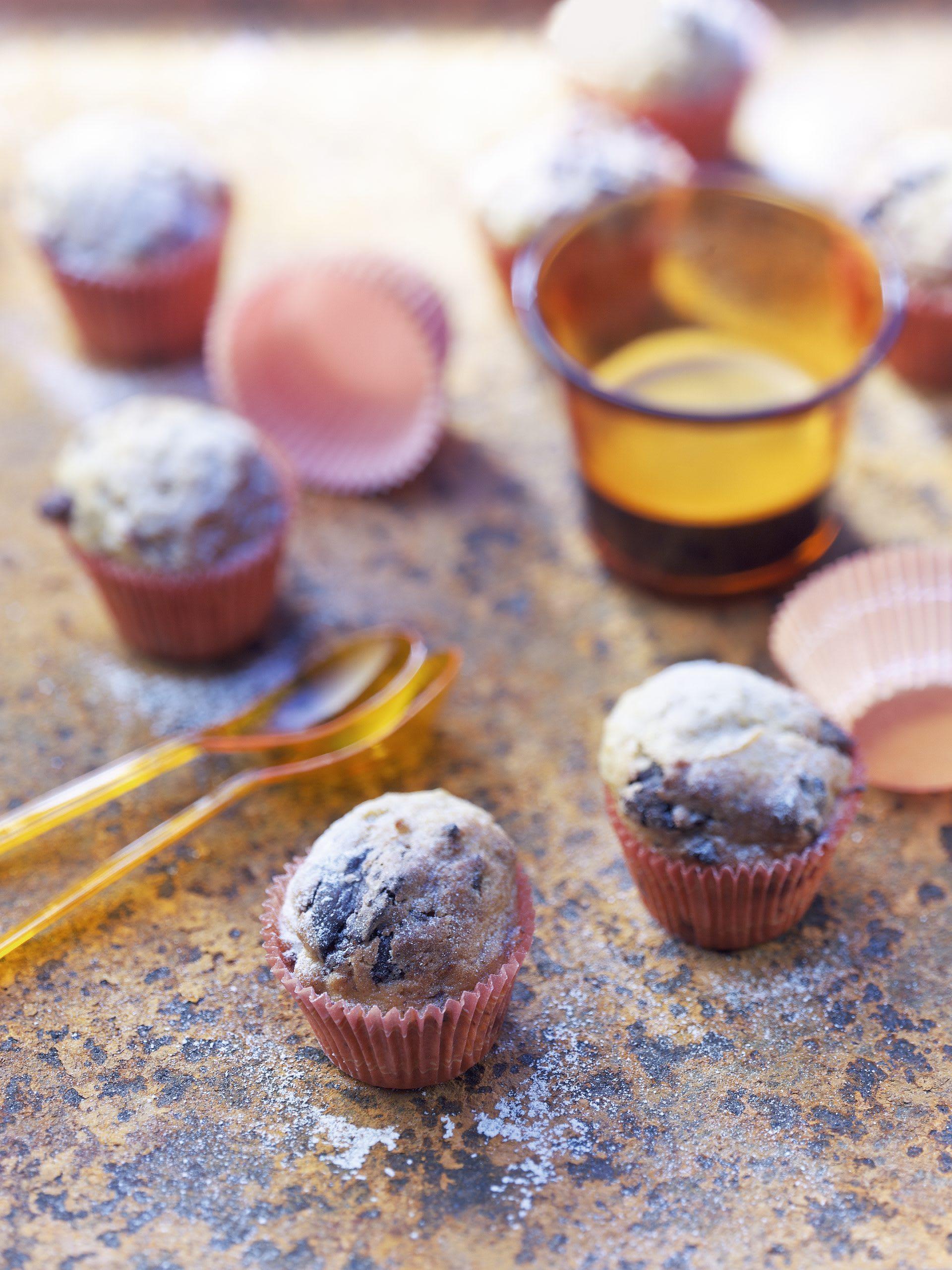 Kürbis-Muffins mit Schokolade