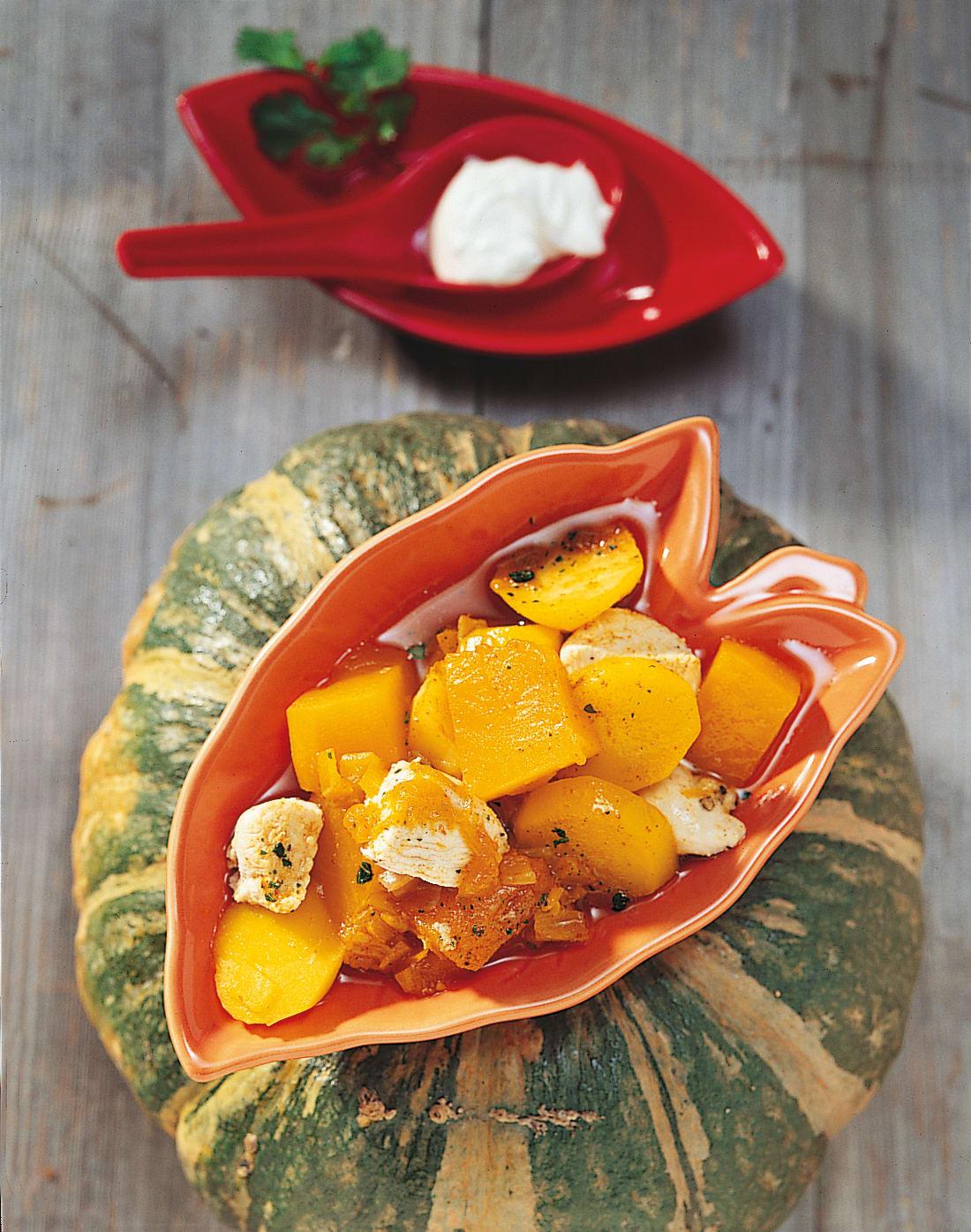 Kürbis-Poulet-Curry