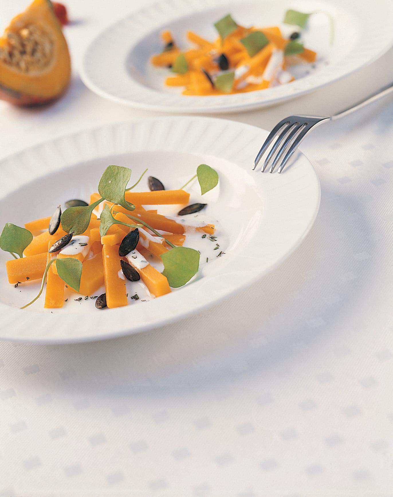 Salade de courge au romarin et au miel