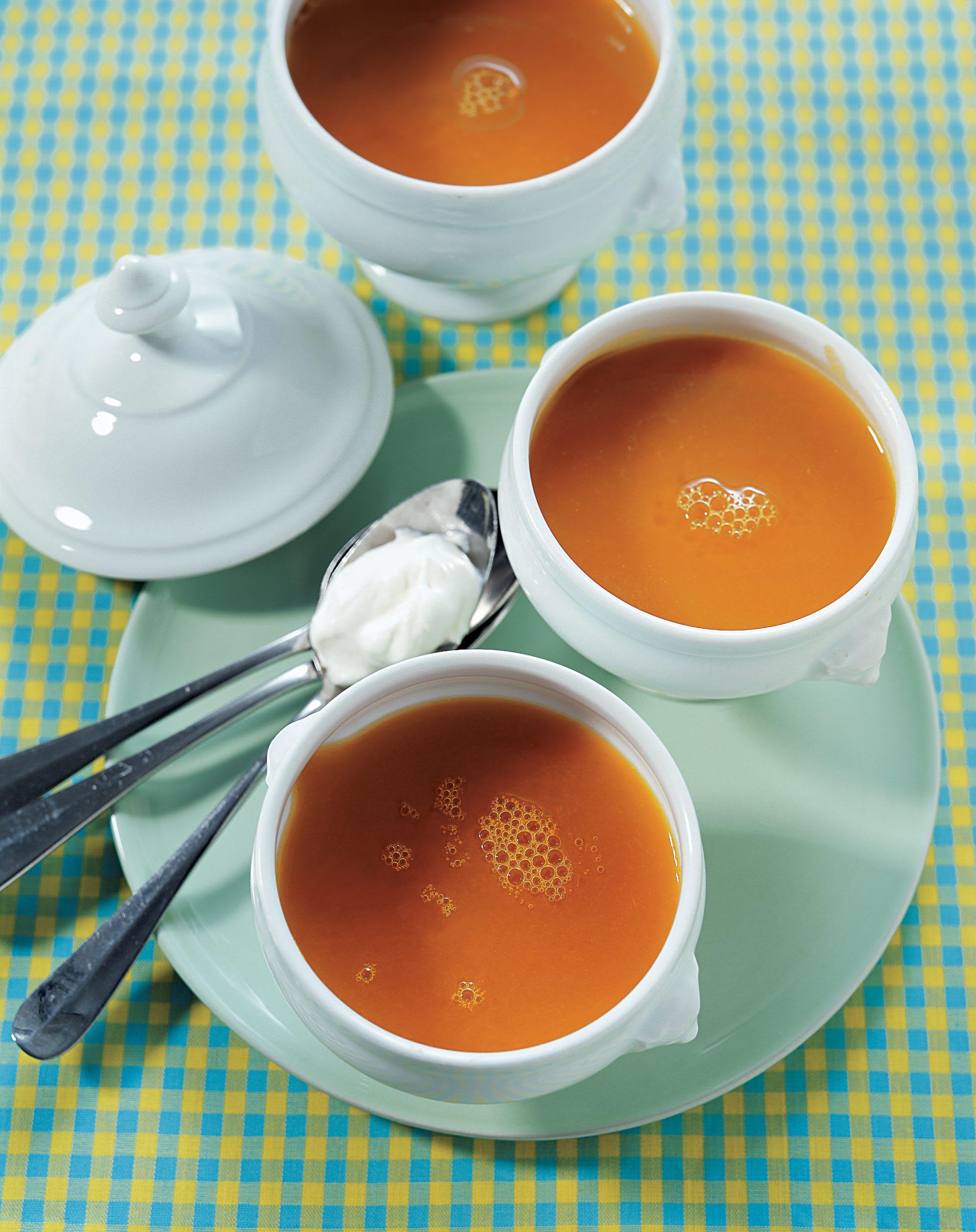 Kürbissuppe mit Ingwerrahm