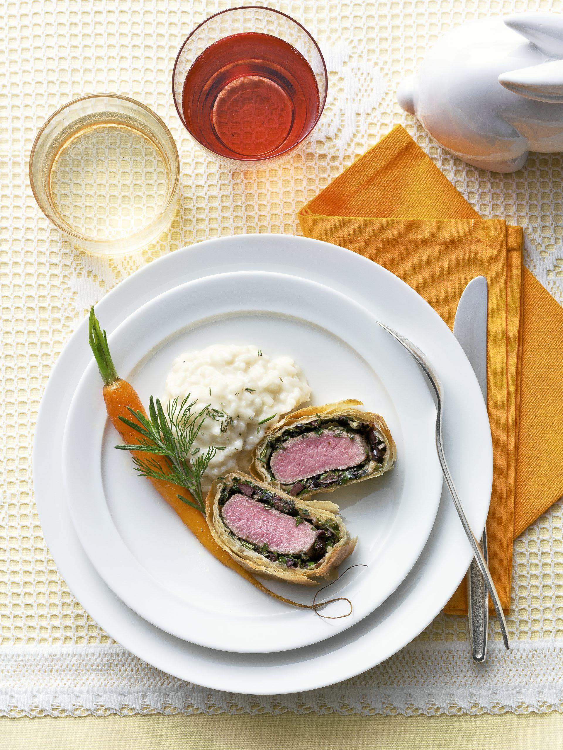 Filets d'agneau en croûte de strudel