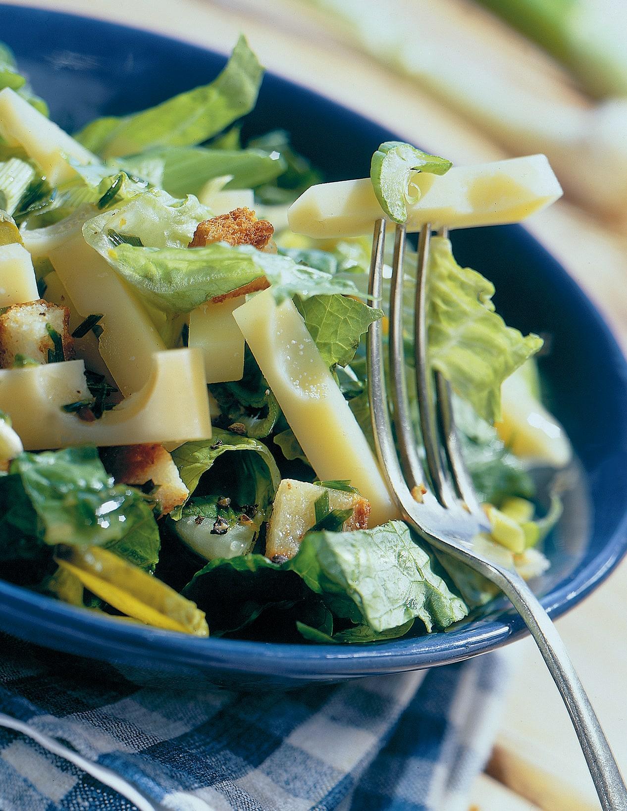Lattichsalat mit Emmentaler