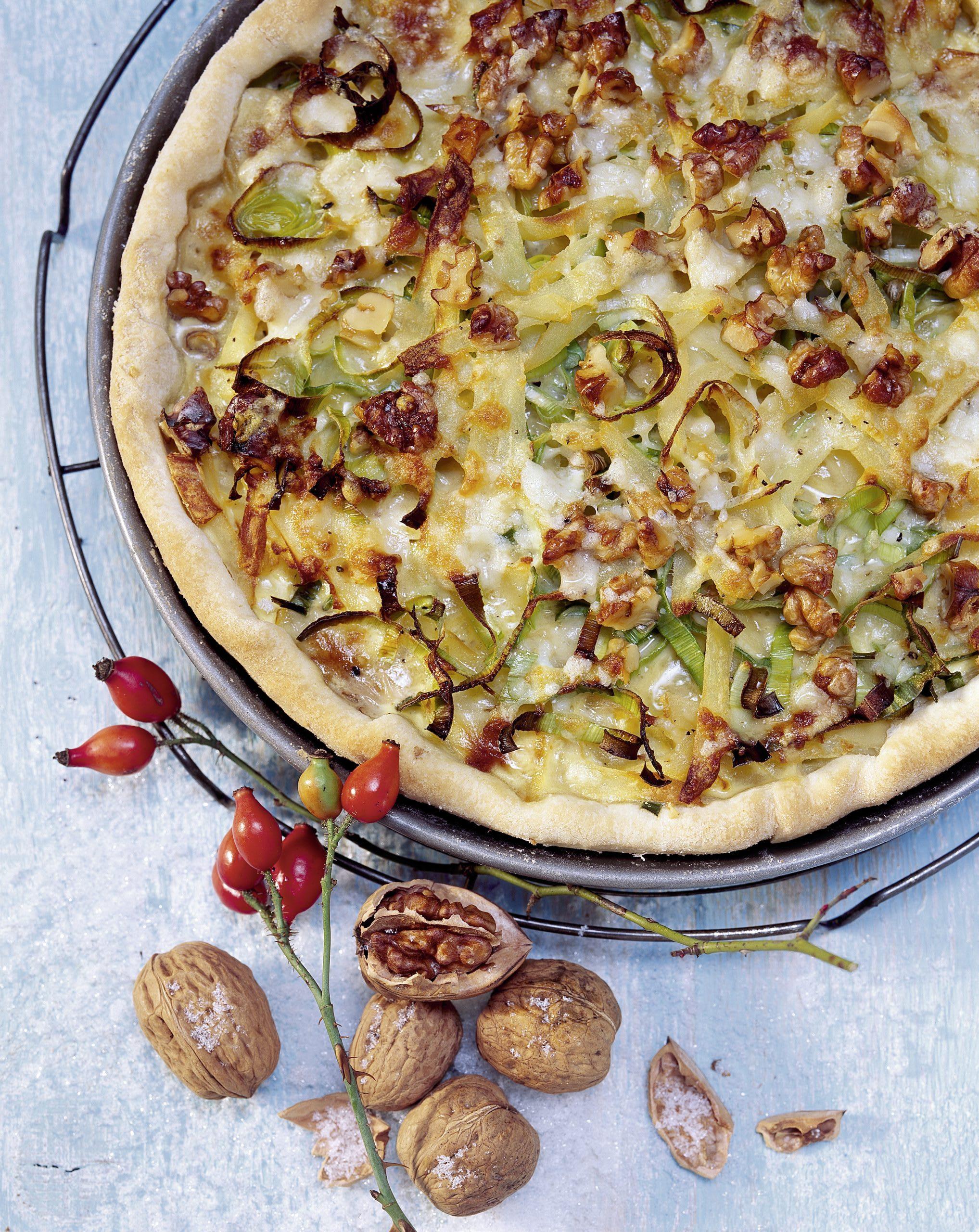 Tarte aux poireaux et aux pommes de terre