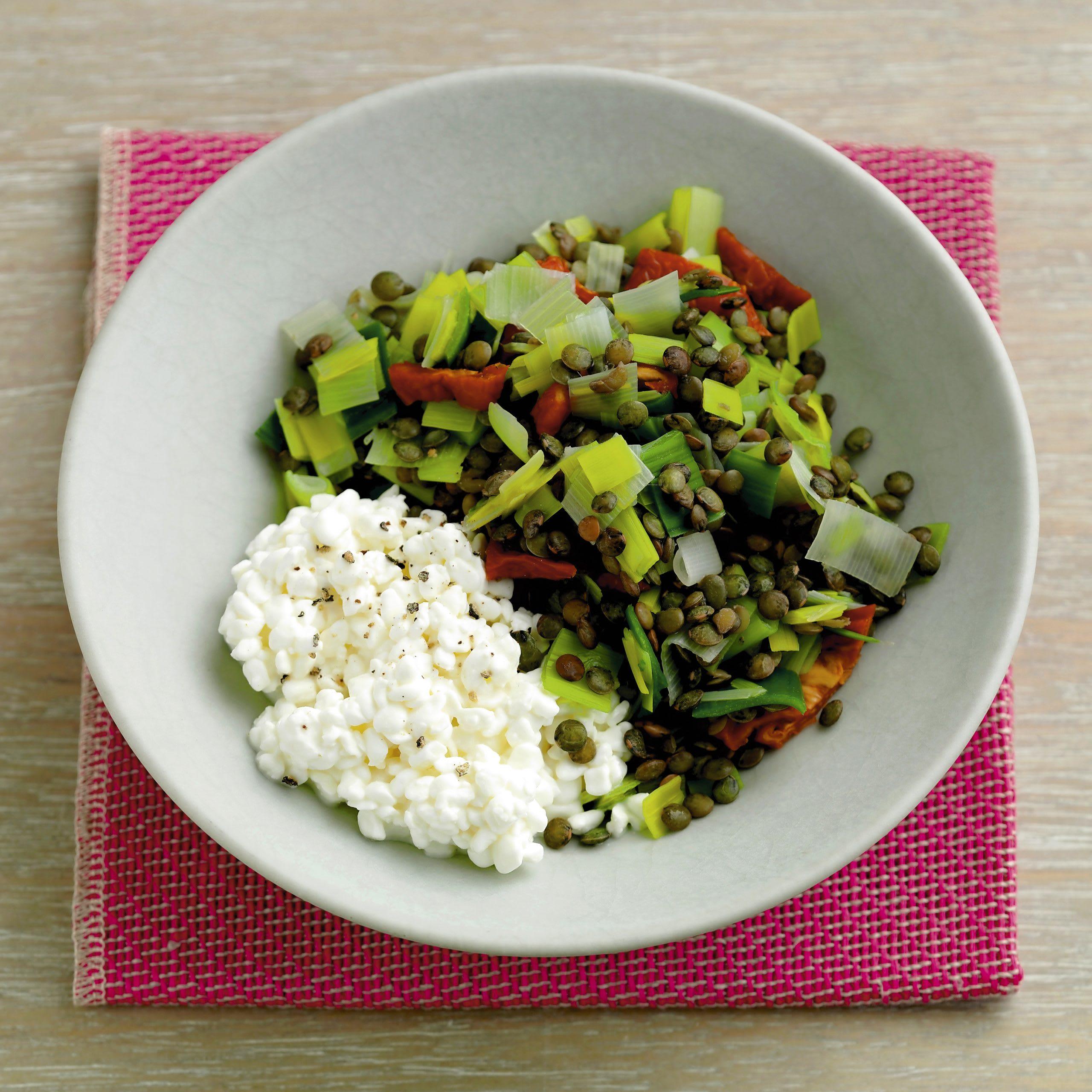 Lauch-Linsen-Gemüse (Low Carb)