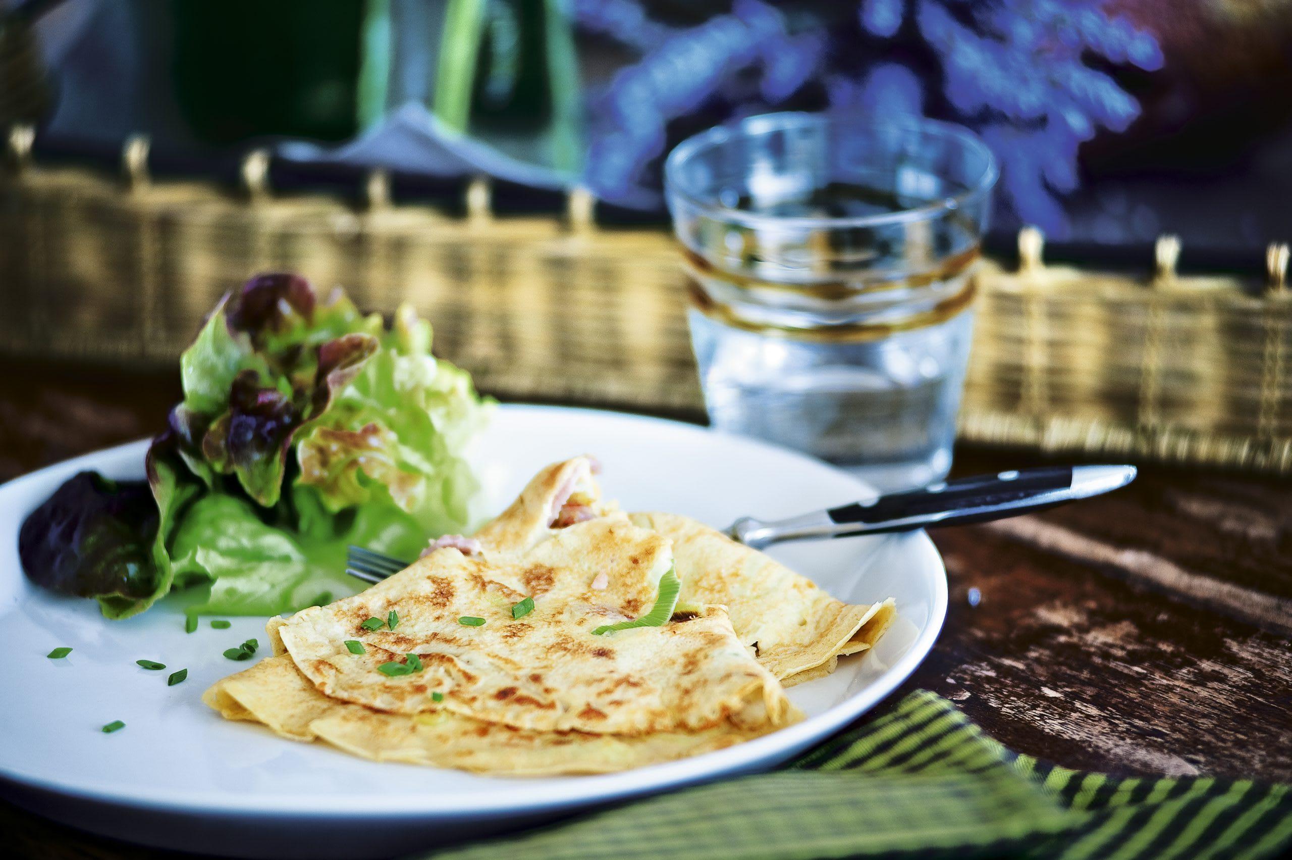 Lauch-Schinken-Omeletten