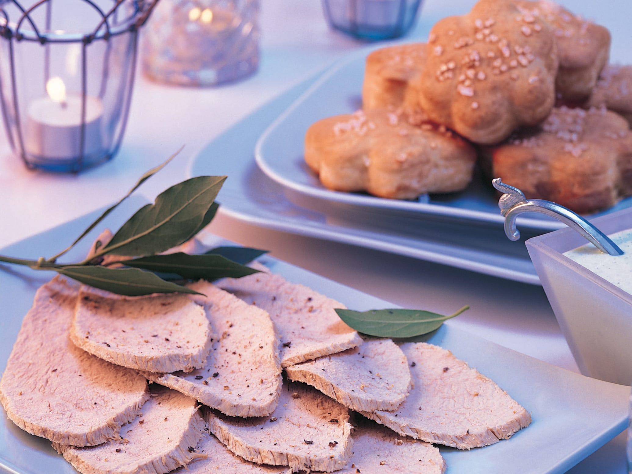 Fleurs de pain aux formaggini et aux herbes