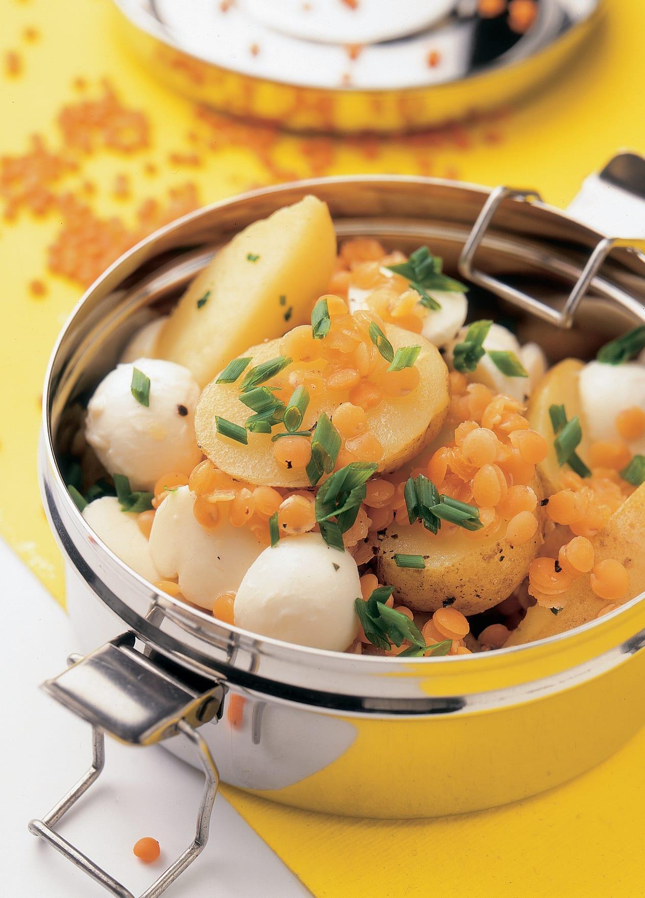 Salade de pommes de terre et de lentilles