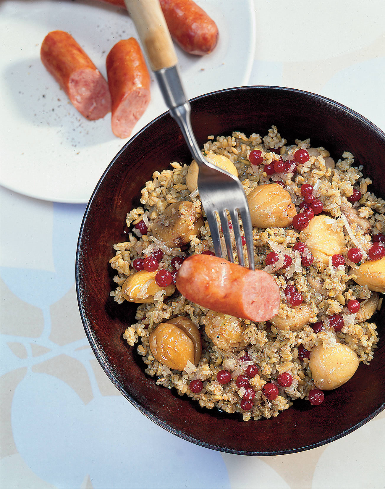 Lauwarmer Dinkel-Marroni-Salat