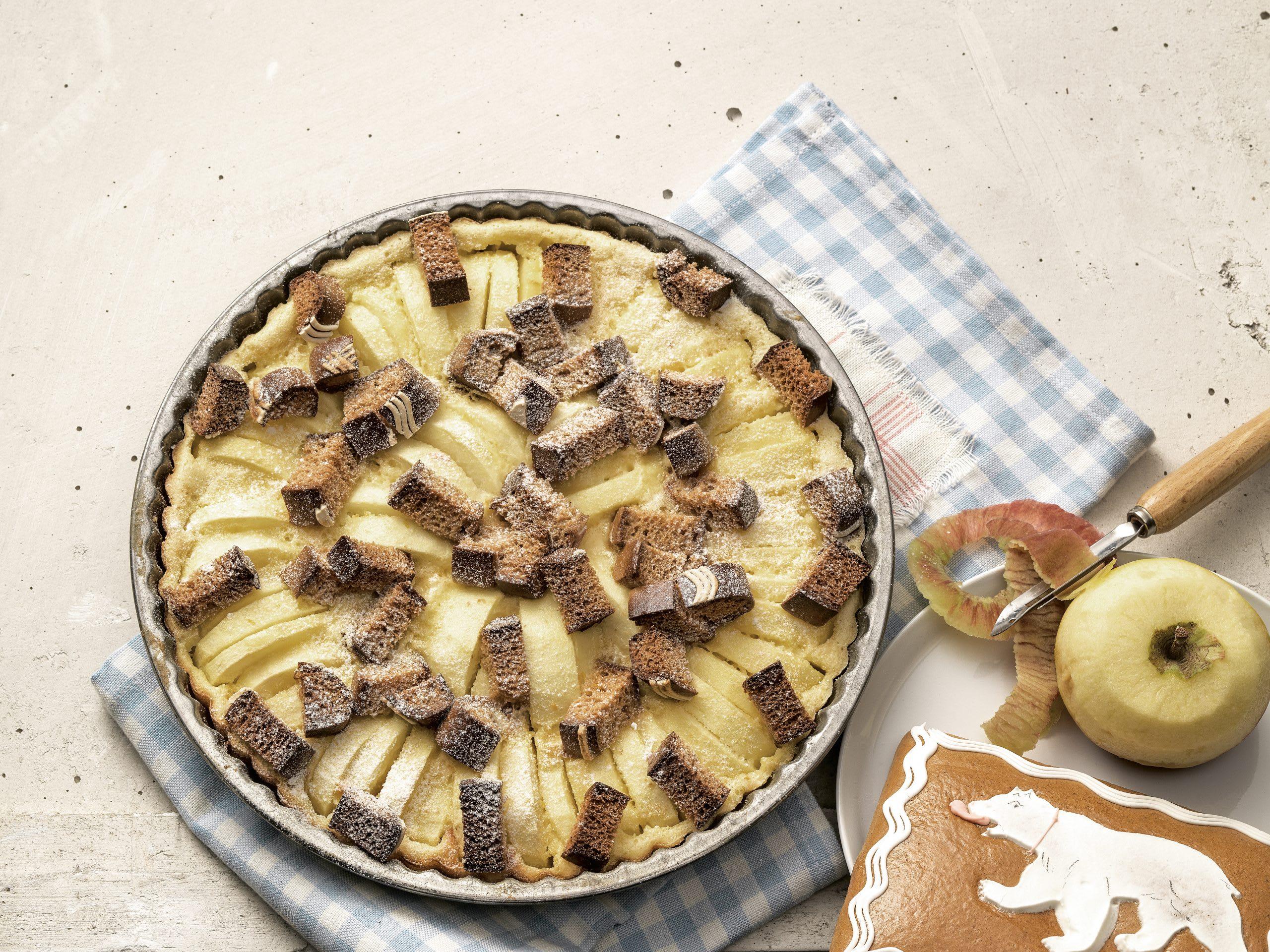 Clafoutis aux pommes et au pain d'épices