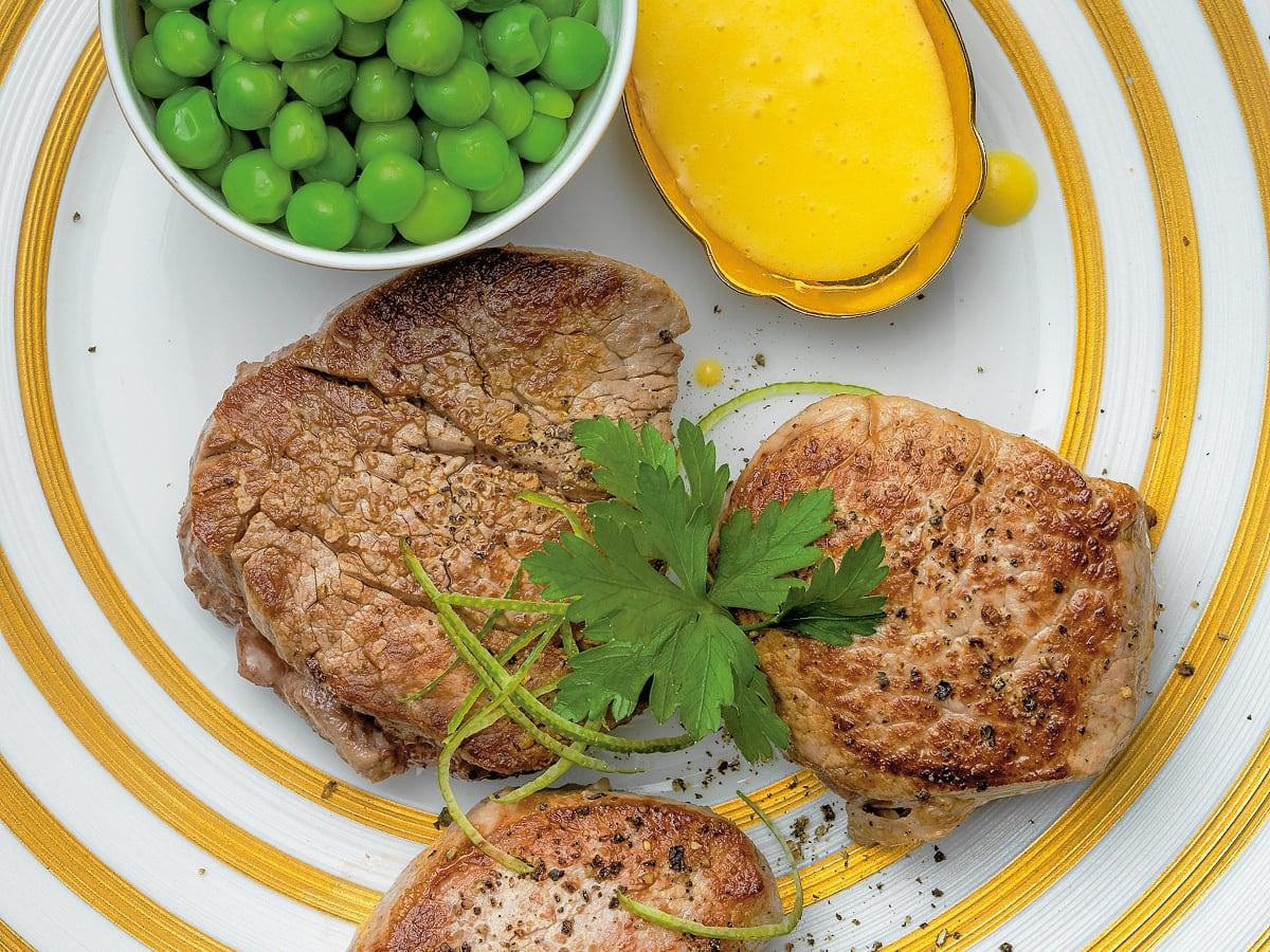 Trio de médaillons sauce hollandaise au citron vert