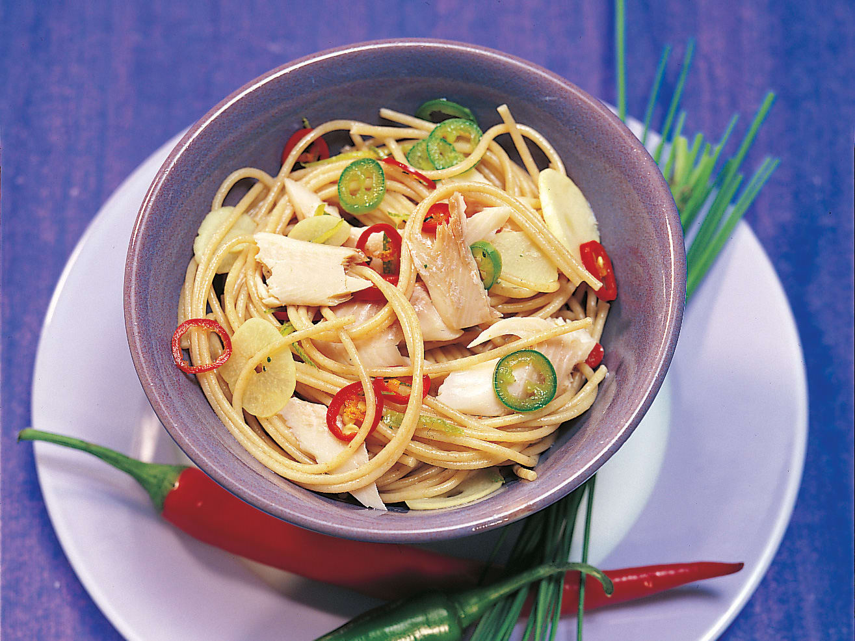 Limetten-Spaghetti