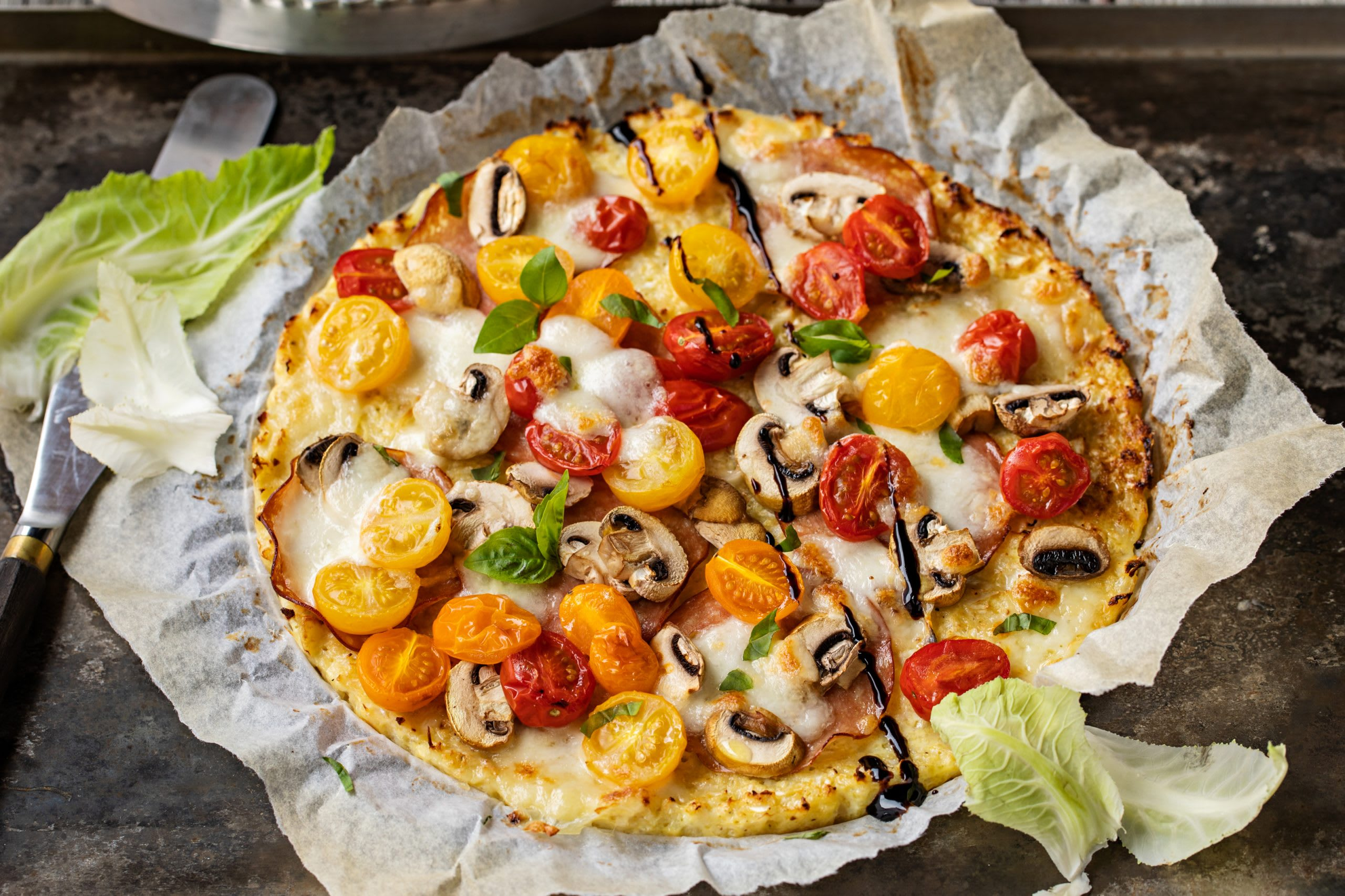 Low Carb-Blumenkohlpizza