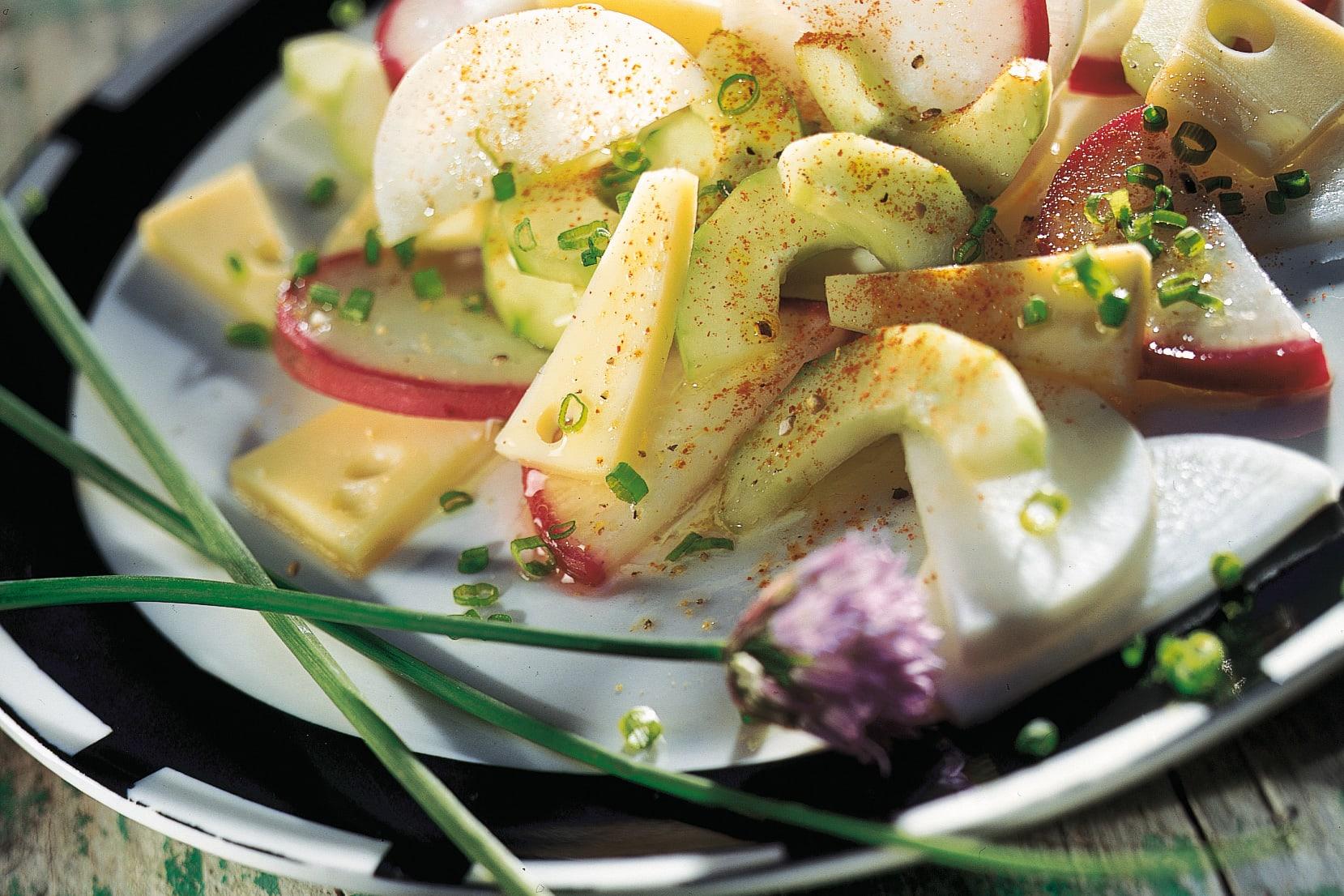 Salade aux radis
