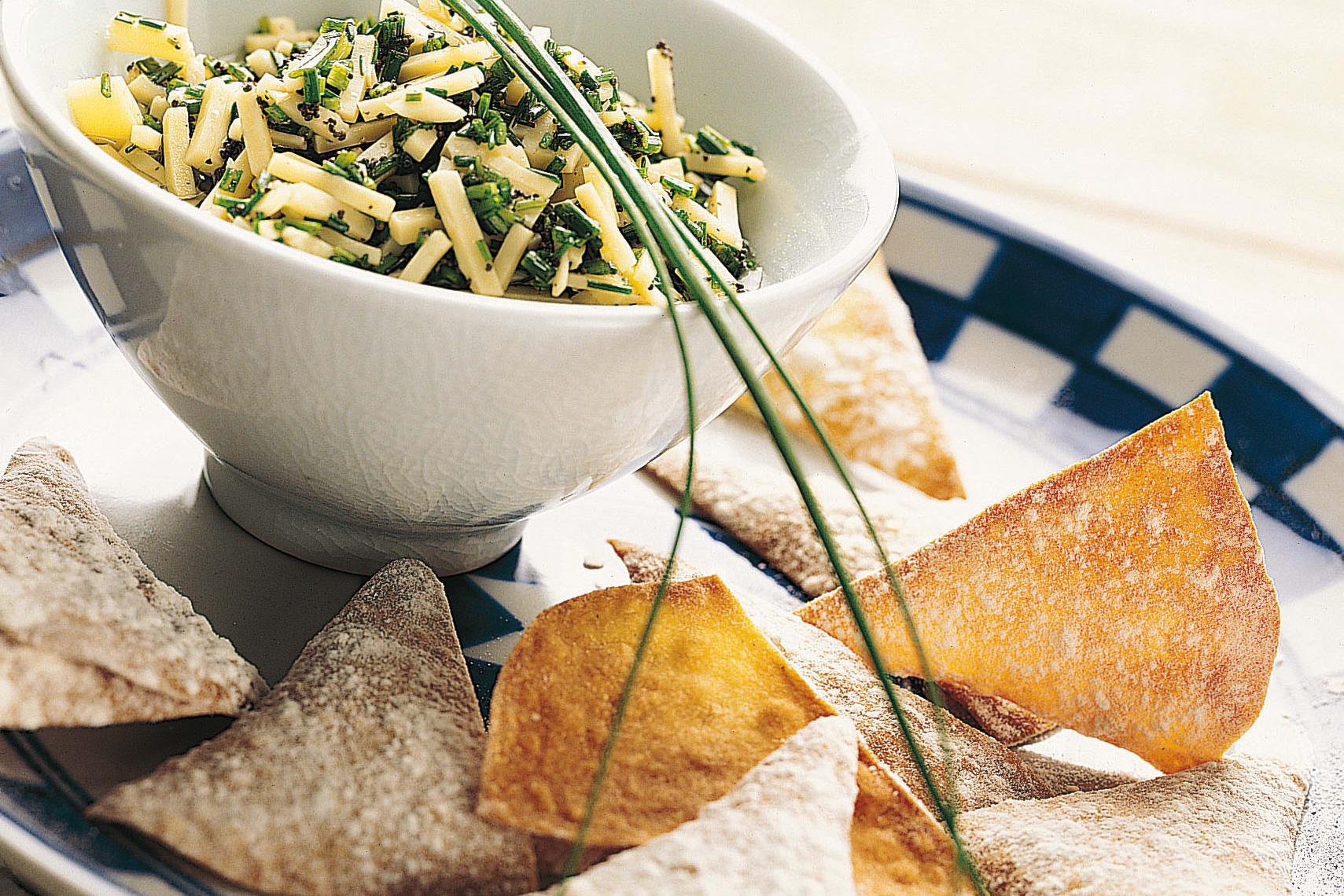 Chips de maïs  sauce au fromage