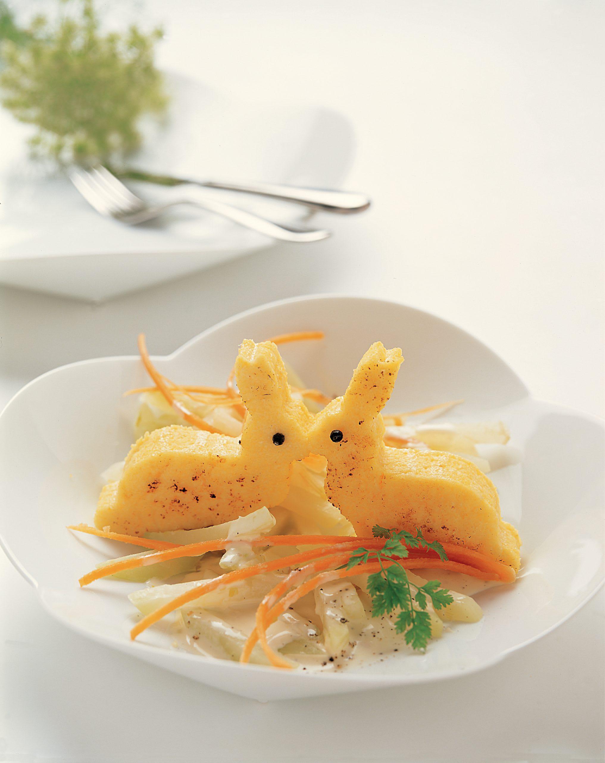 Mais-Hasen mit Kohlrabigemüse