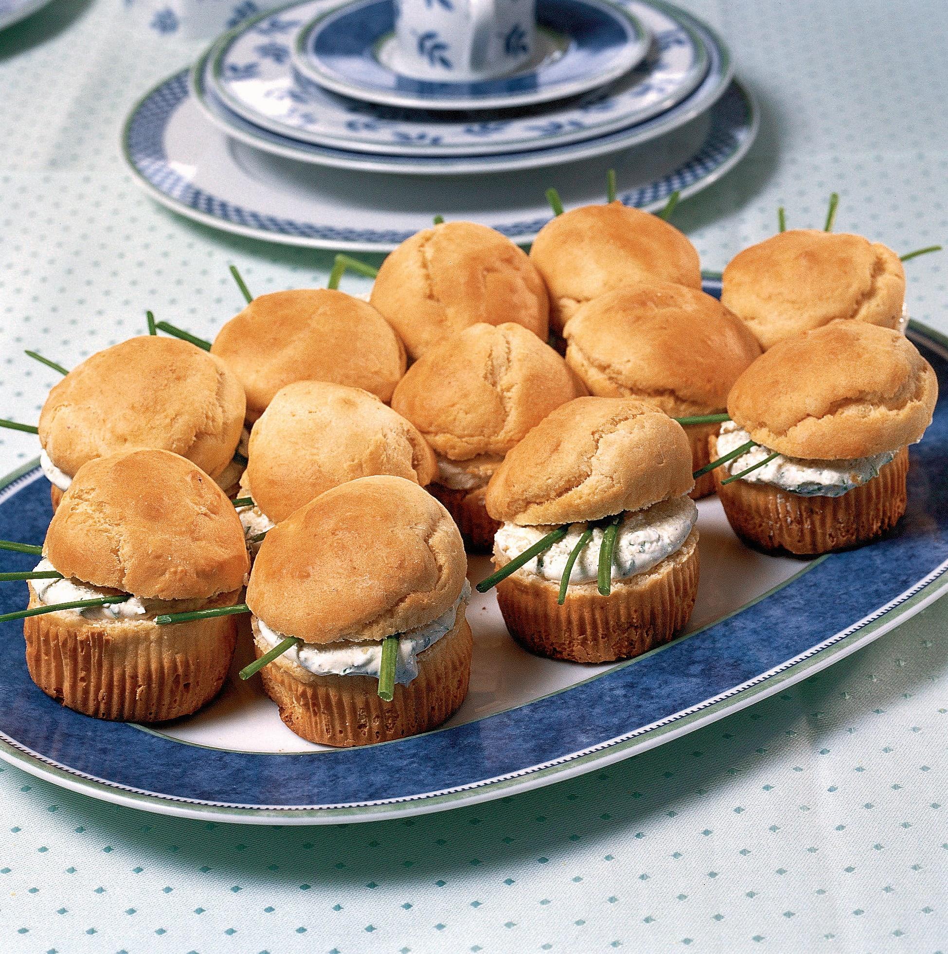 Mais-Muffins mit Quarkfüllung