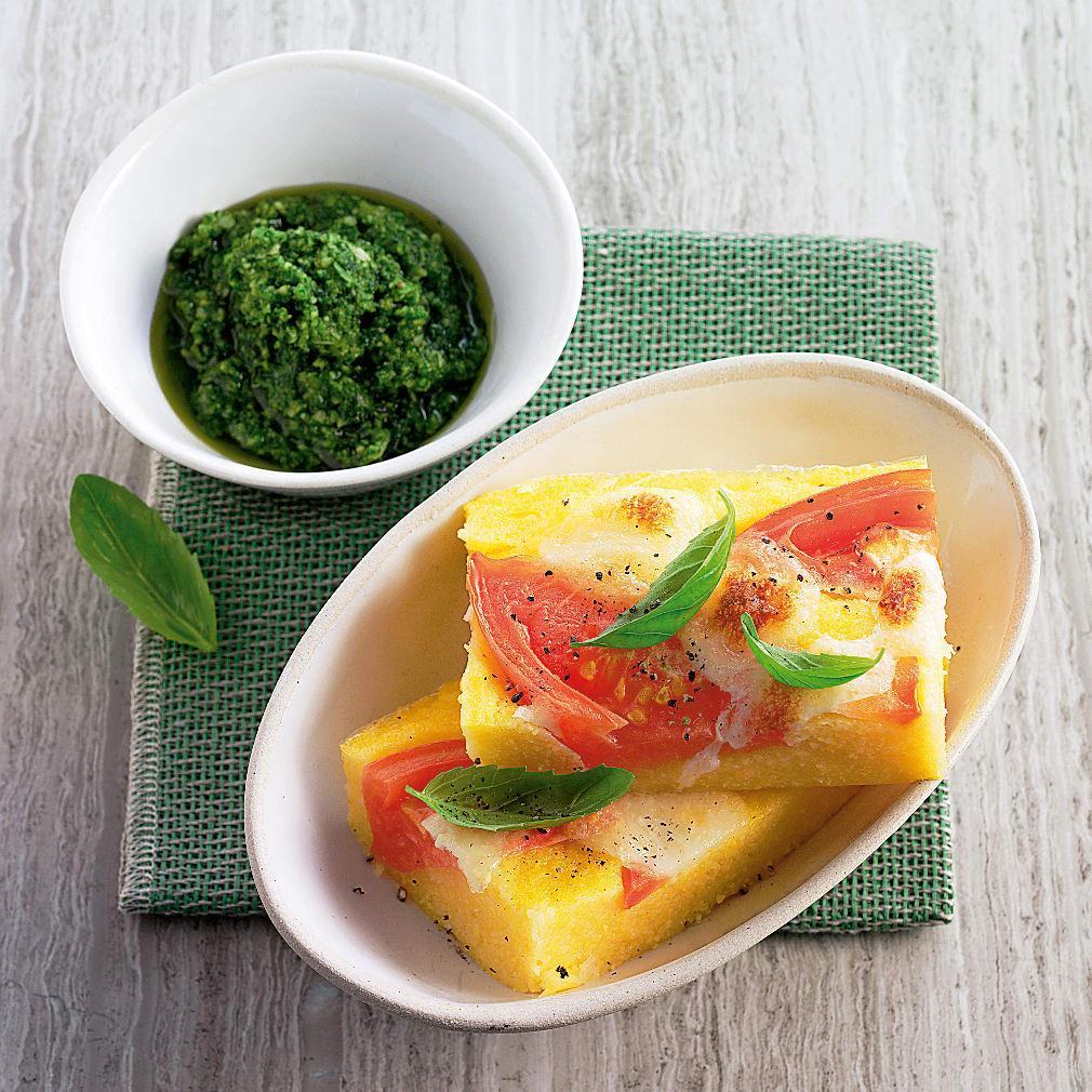Carrés de maïs à la tomate
