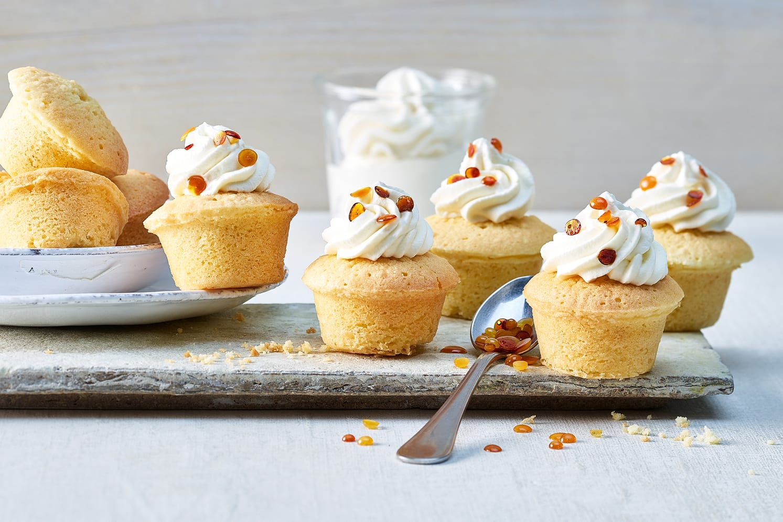 Muffins aux amandes et perles de caramel