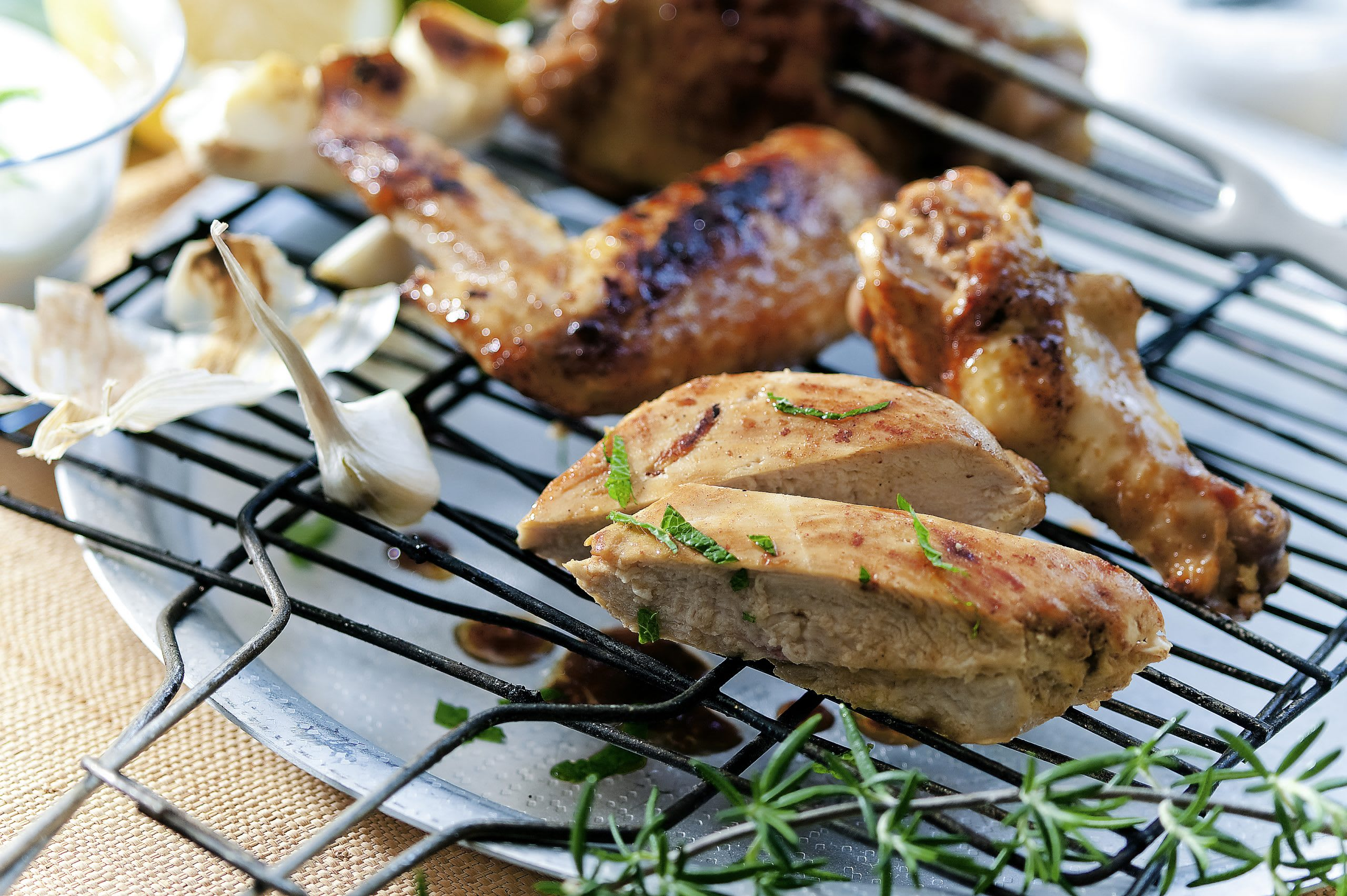 Marinierte Pouletstücke vom Grill