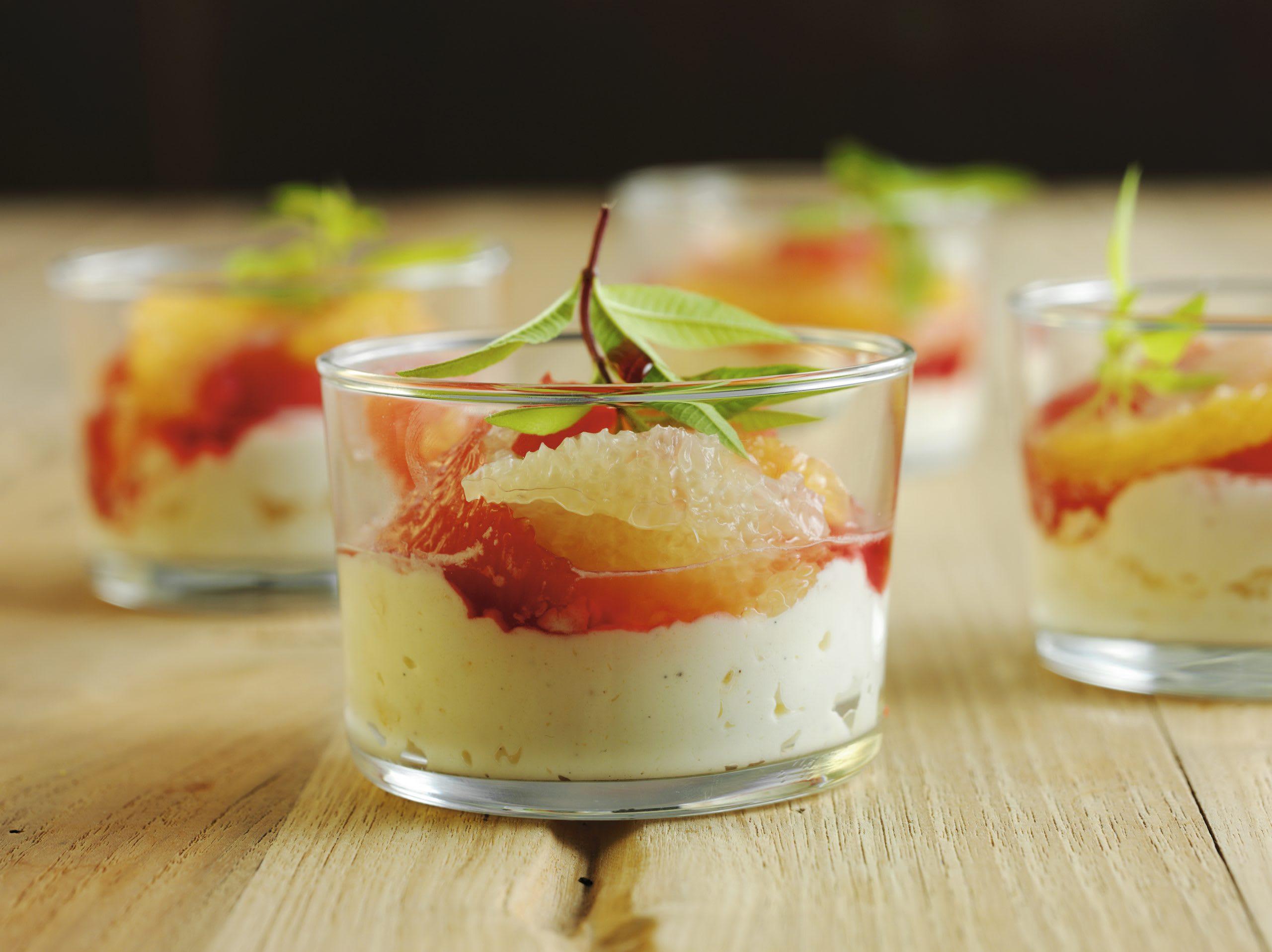 Crème au mascarpone et salade d'agrumes