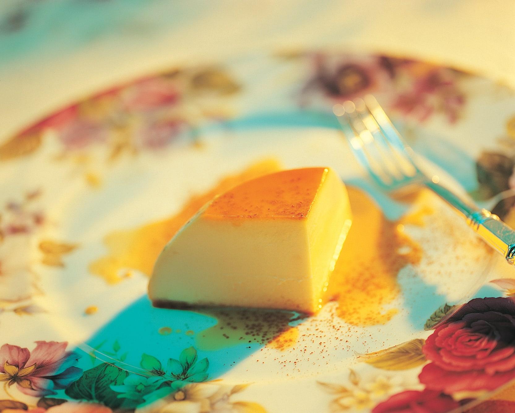 Mascarpone-Pudding mit Caramelsauce
