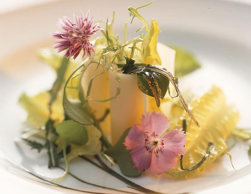 Salade de mesclun et vinaigrette au Sbrinz
