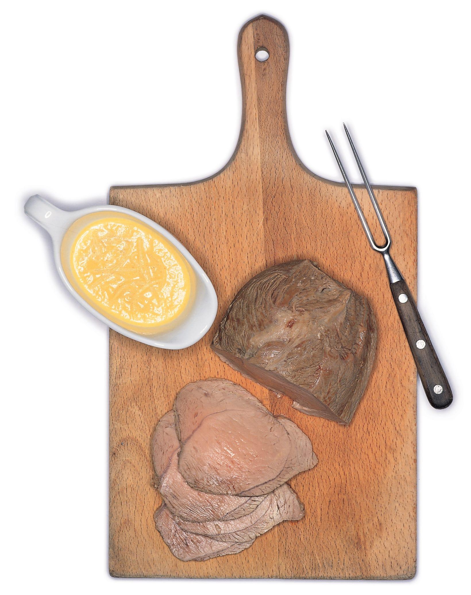 Rôti de veau au babeurre et sauce au gingembre