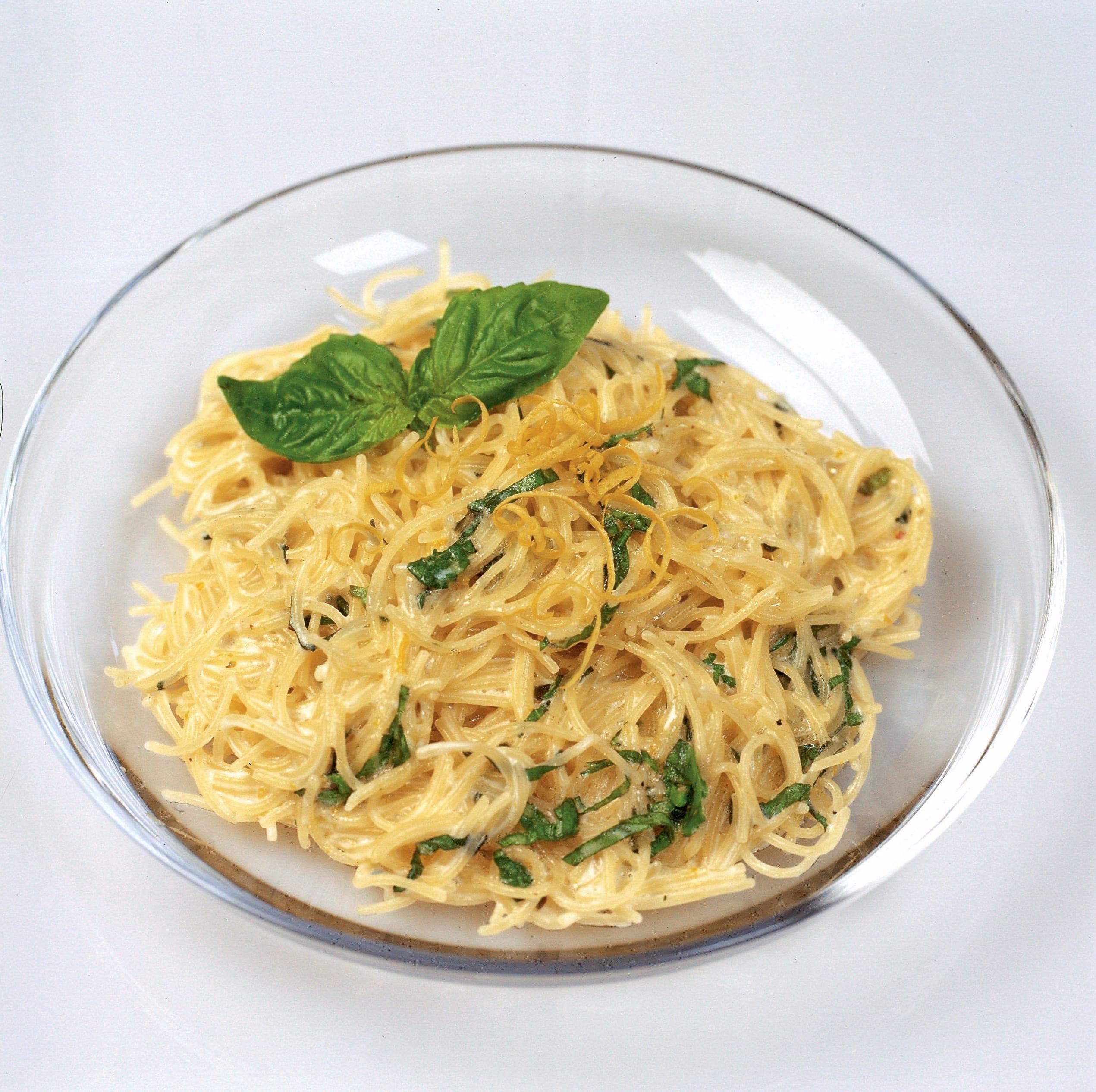 Milch-Fideli mit Zitronen-Basilikum-Butter
