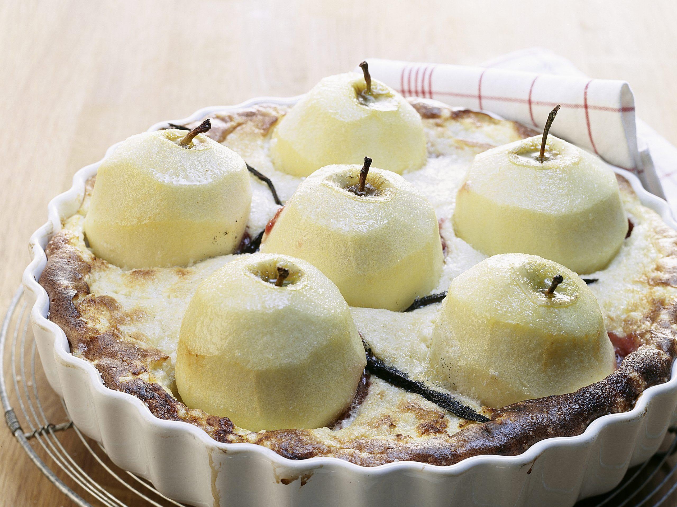 Milchreisgratin mit Äpfeln