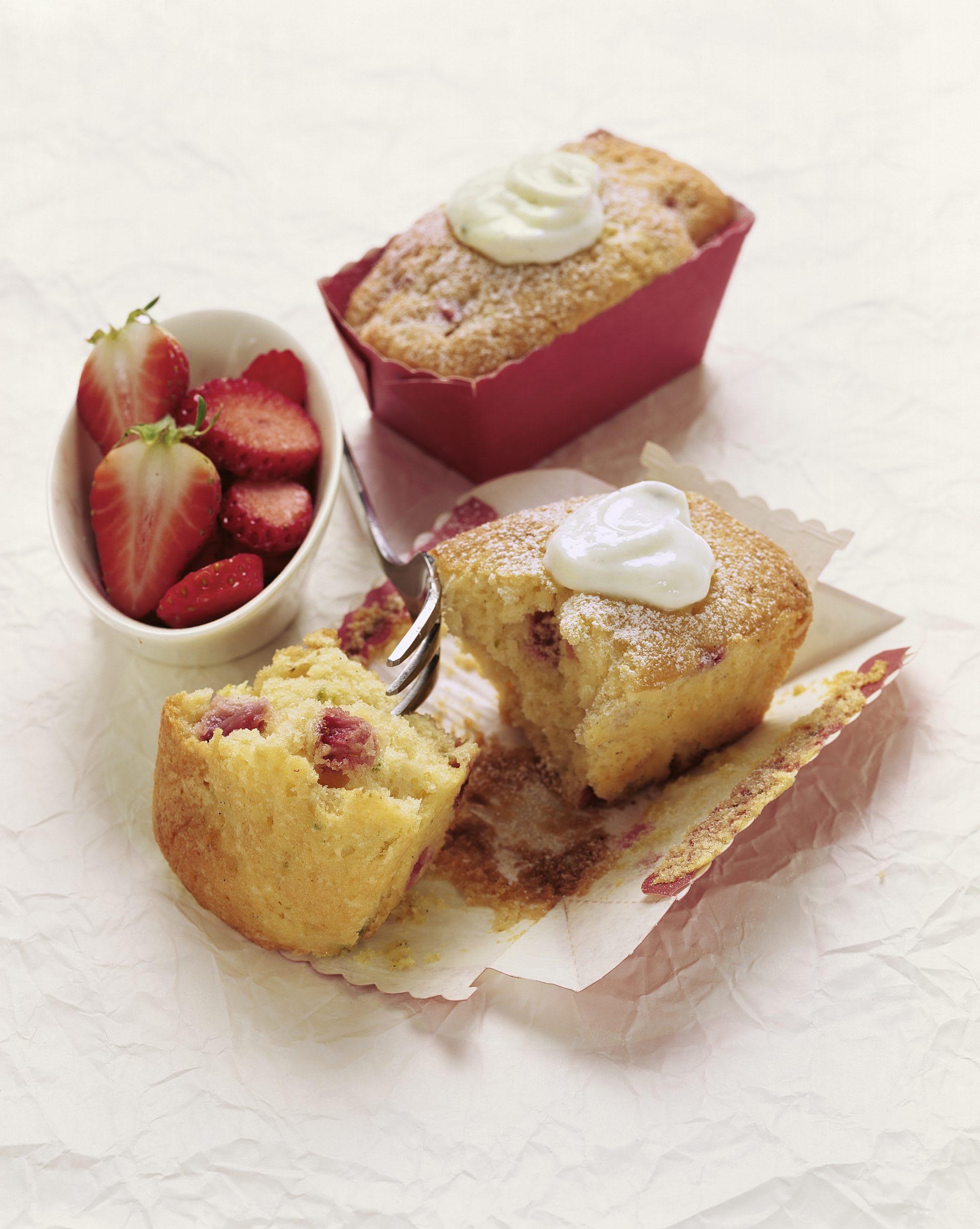 Mini-Erdbeer-Cakes