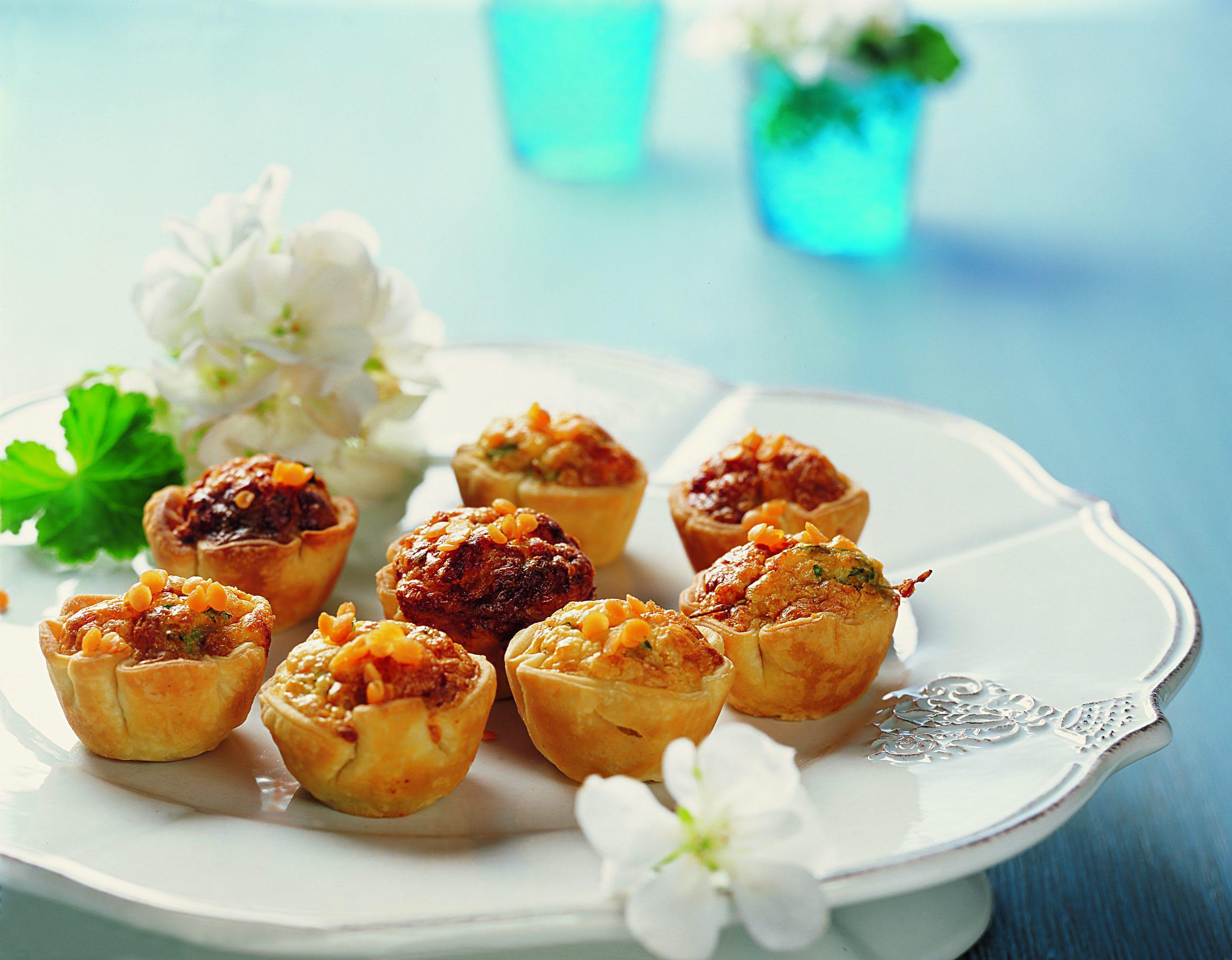 Mini-muffins au fromage et aux lentilles