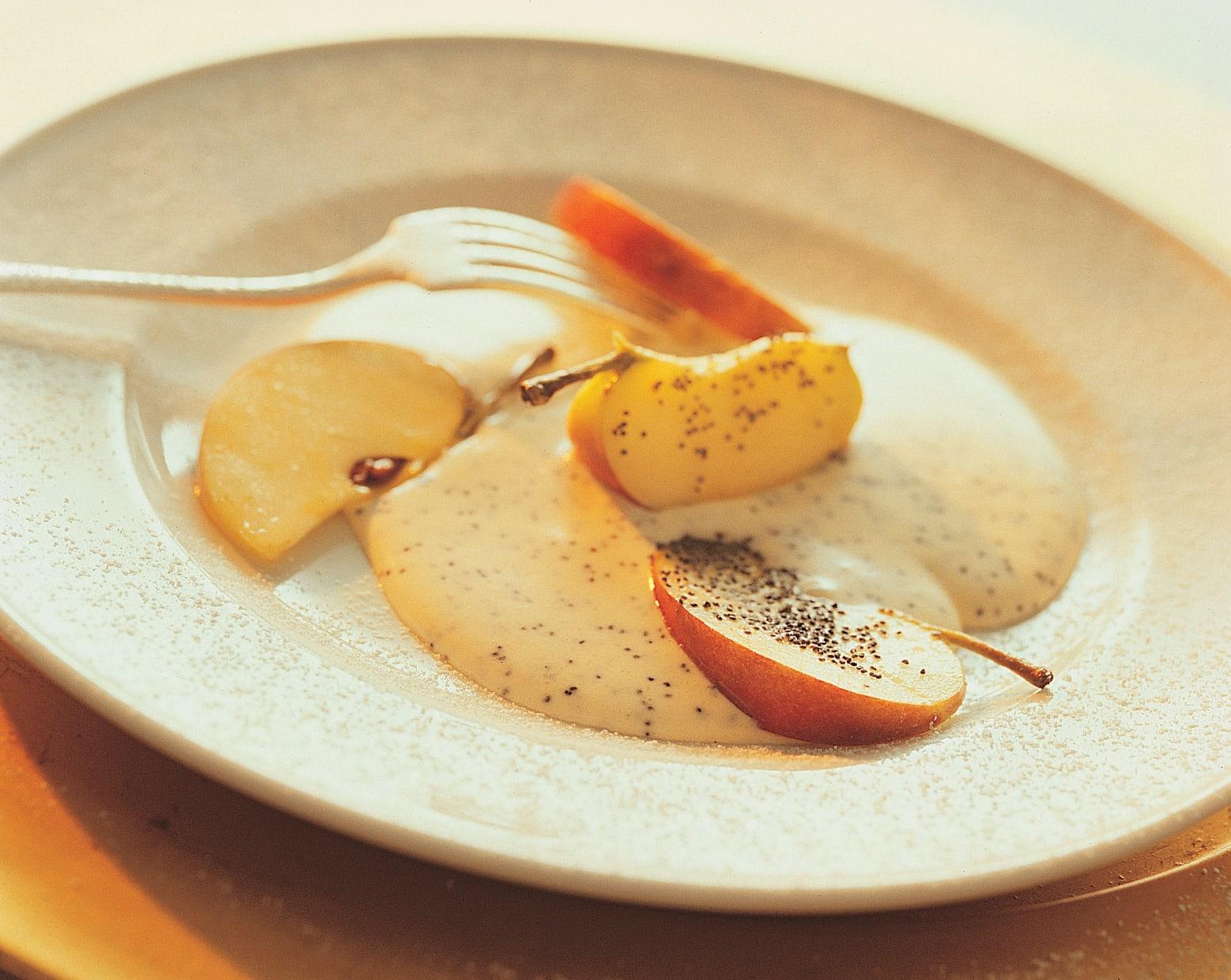 Crème au pavot et aux pommes