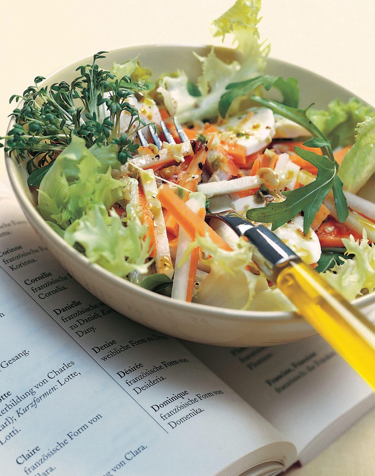 Salade de printemps à la mozzarella