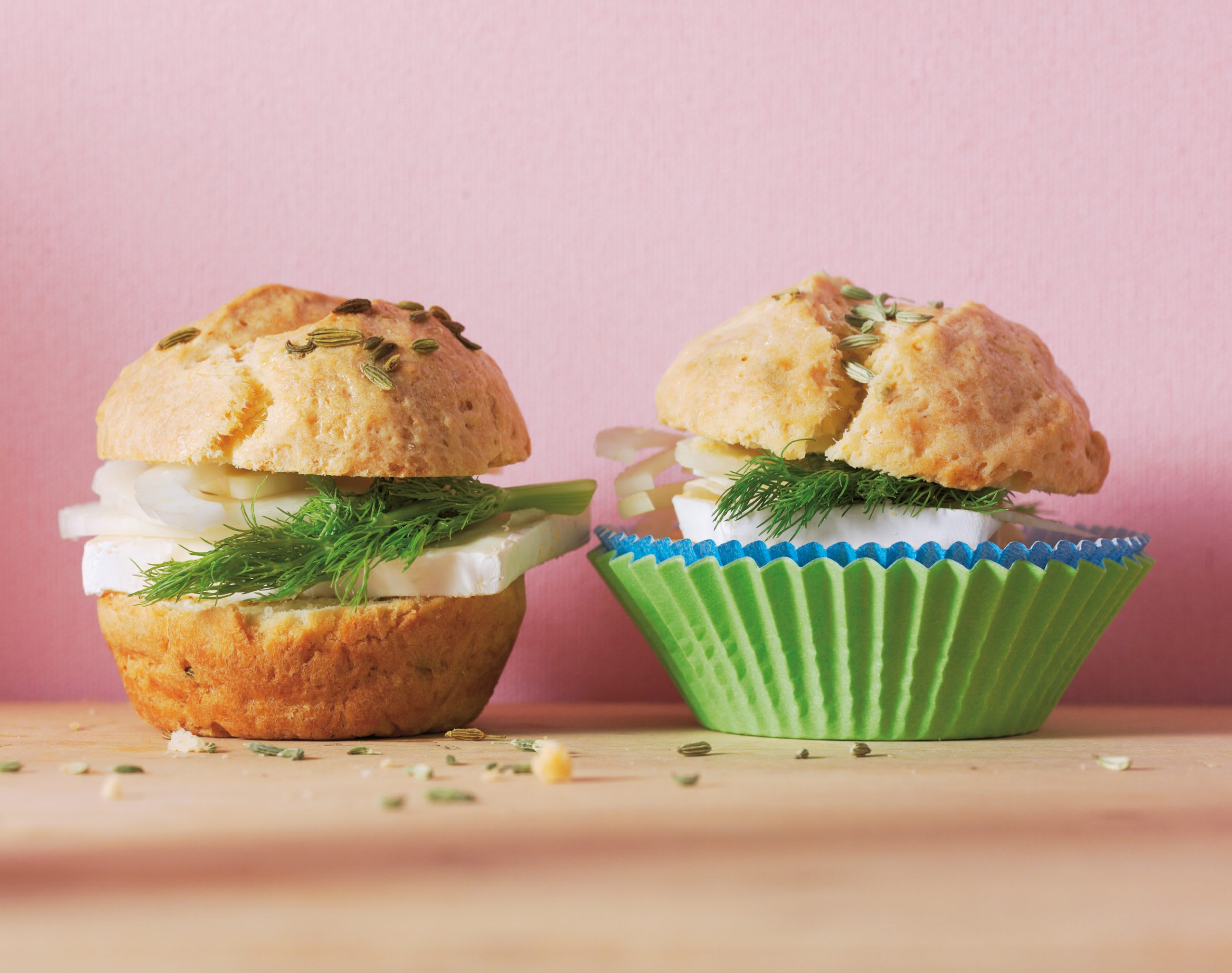 Muffins au brie et au fenouil