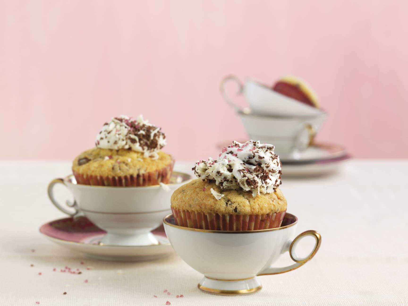Muffins mit Schoko-Rahm-Topping