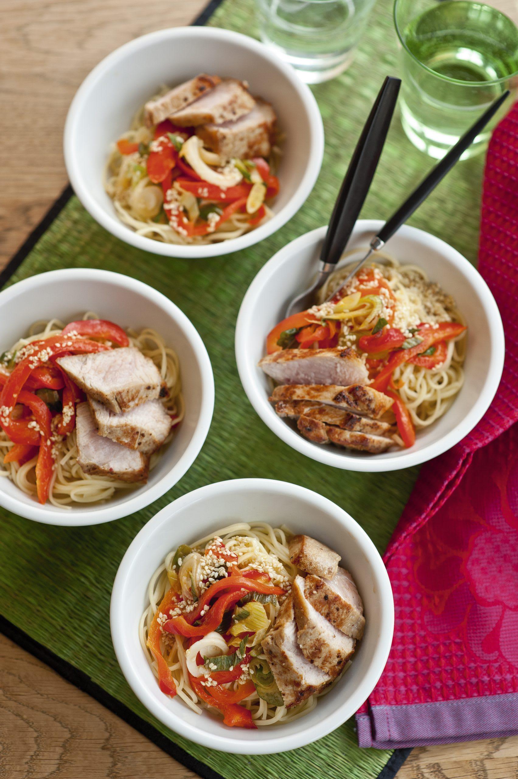 Nudel-Fleisch-Salat