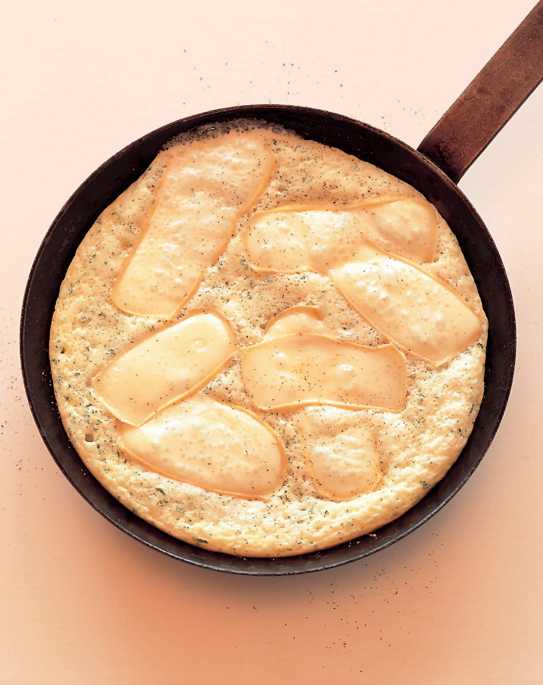 Omelette soufflée mit Reblochon