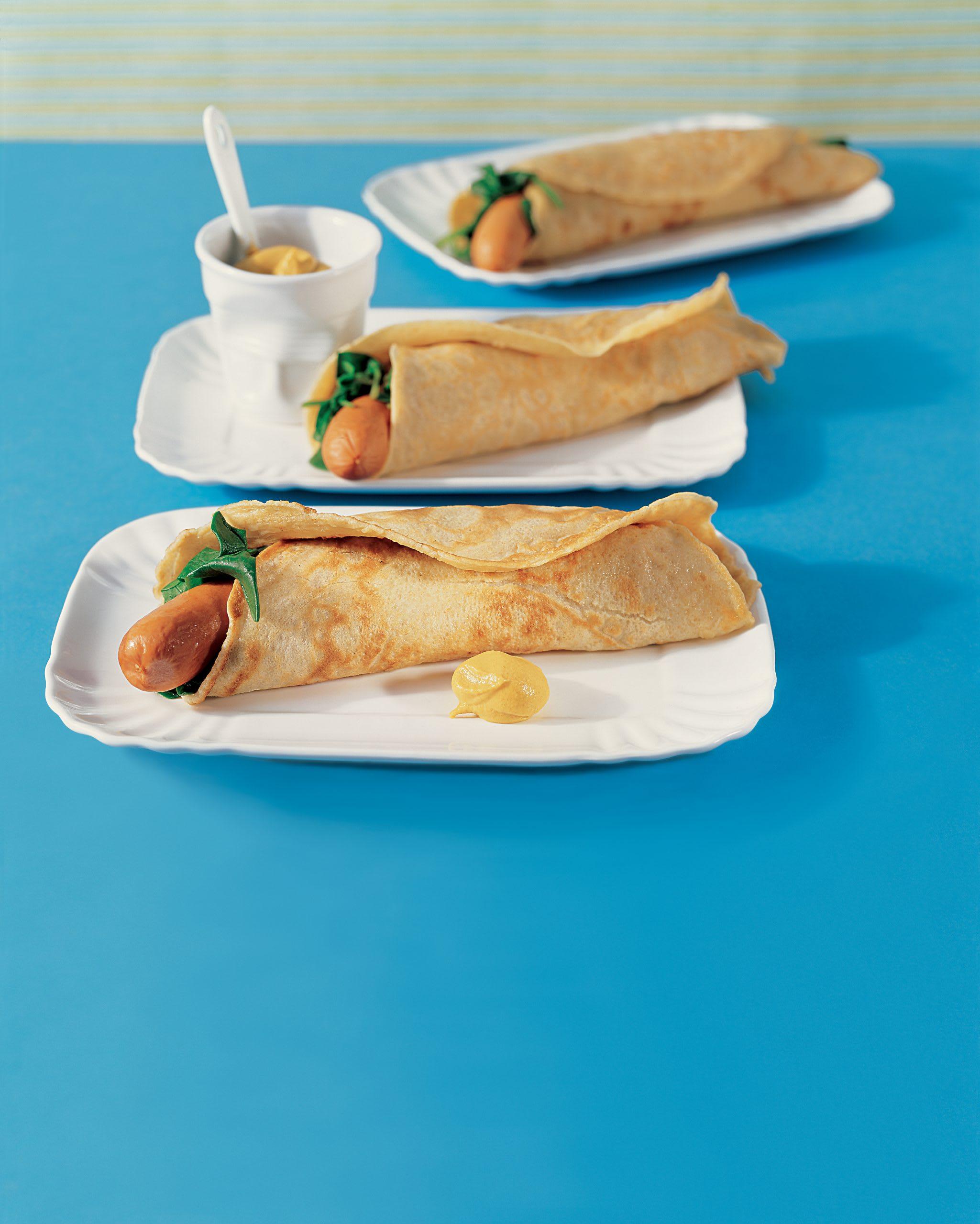 Omeletten-Hot-Dogs