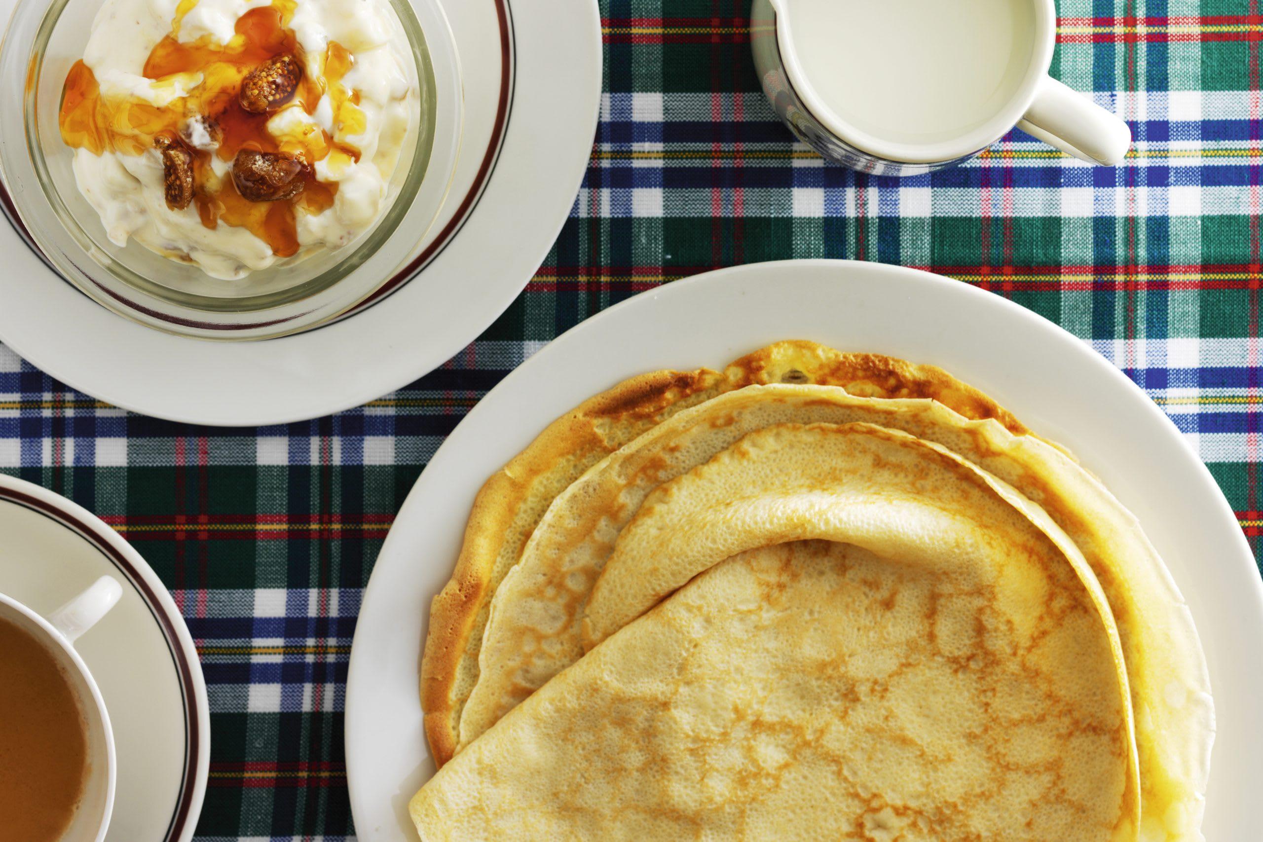 Omeletten mit Birnen-Quark-Füllung